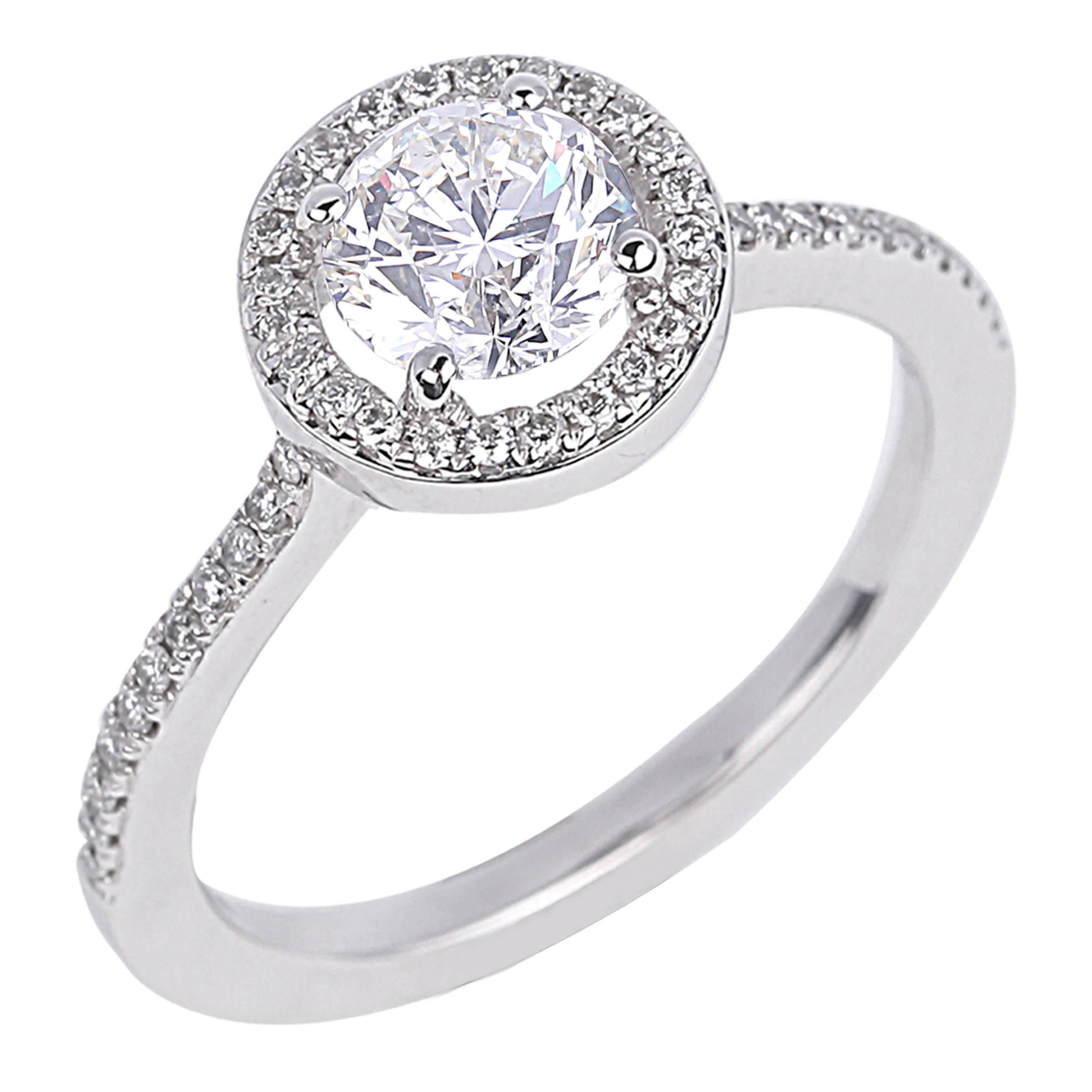 Diamond Engagement Halo Rings SGR723 (Rings)