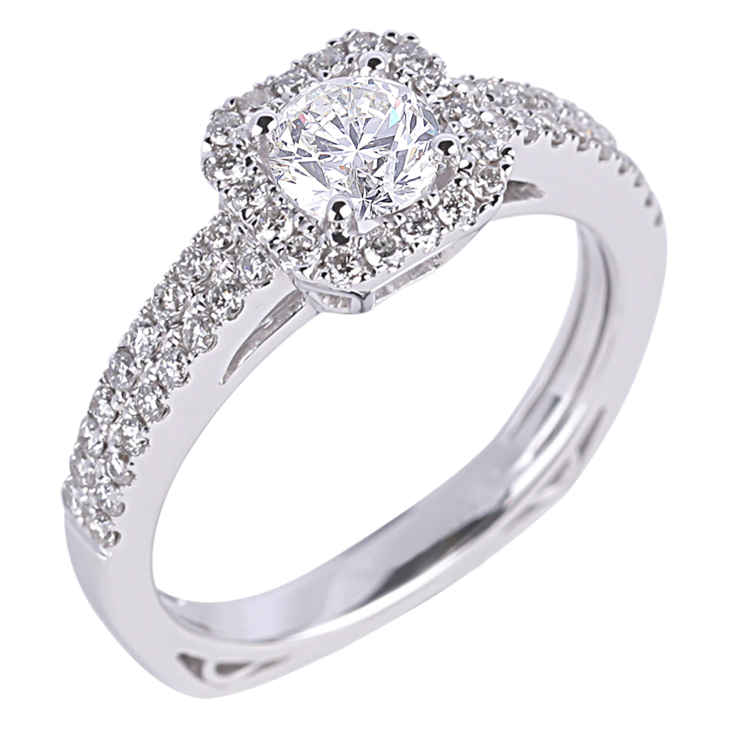 Diamond Engagement Halo Rings SGR939 (Rings)