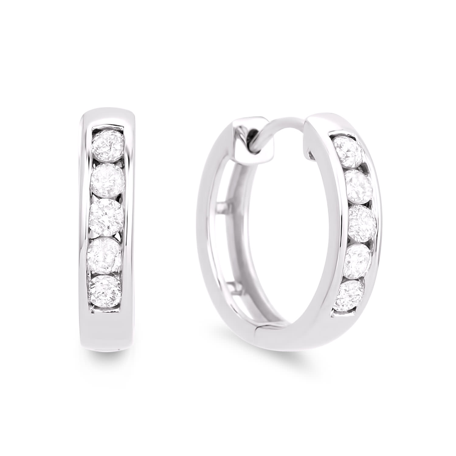 Diamond Hoop Earrings SGE100 (Earrings)