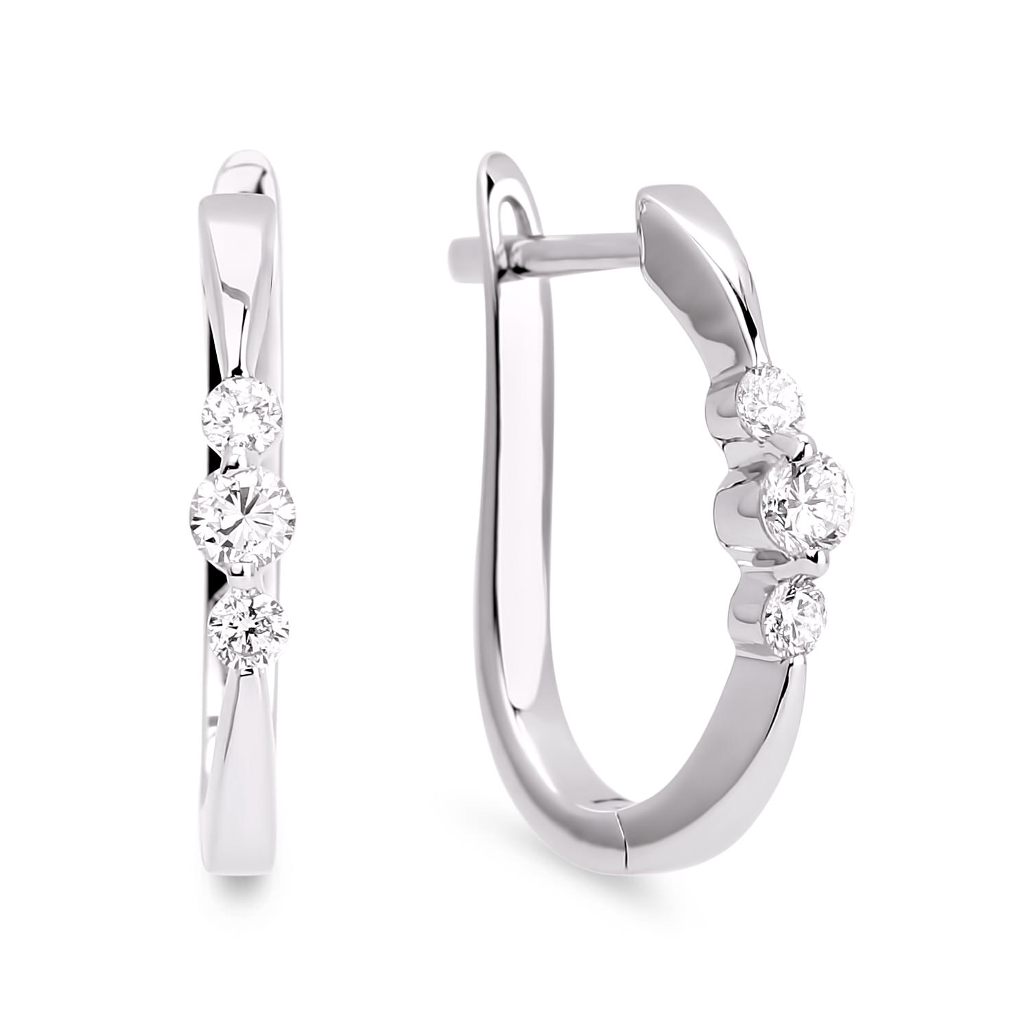 Diamond Hoop Earrings SGE102 (Earrings)
