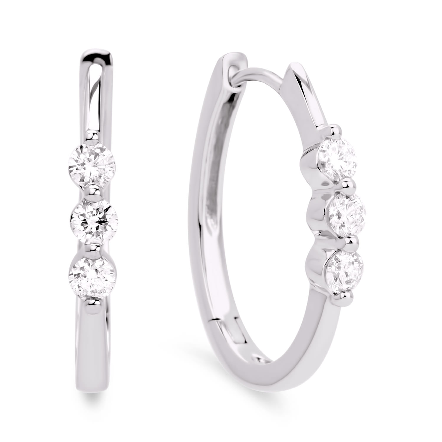 Diamond Hoop Earrings SGE103 (Earrings)