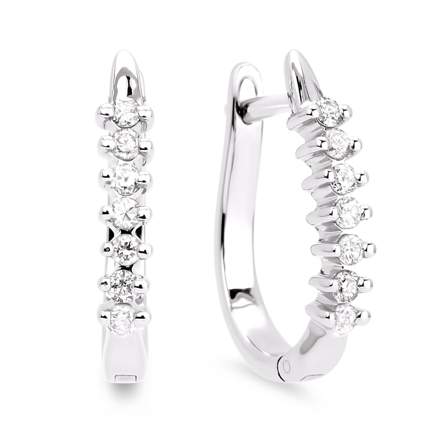 Diamond Hoop Earrings SGE107 (Earrings)