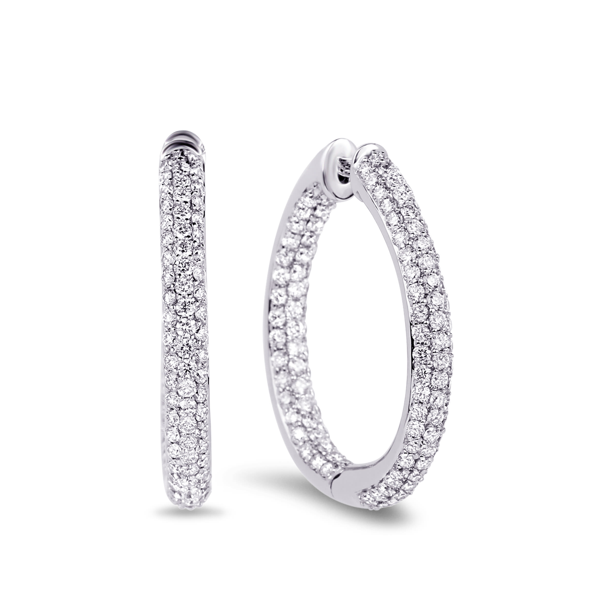 Diamond Hoop Earrings SGE110 (Earrings)