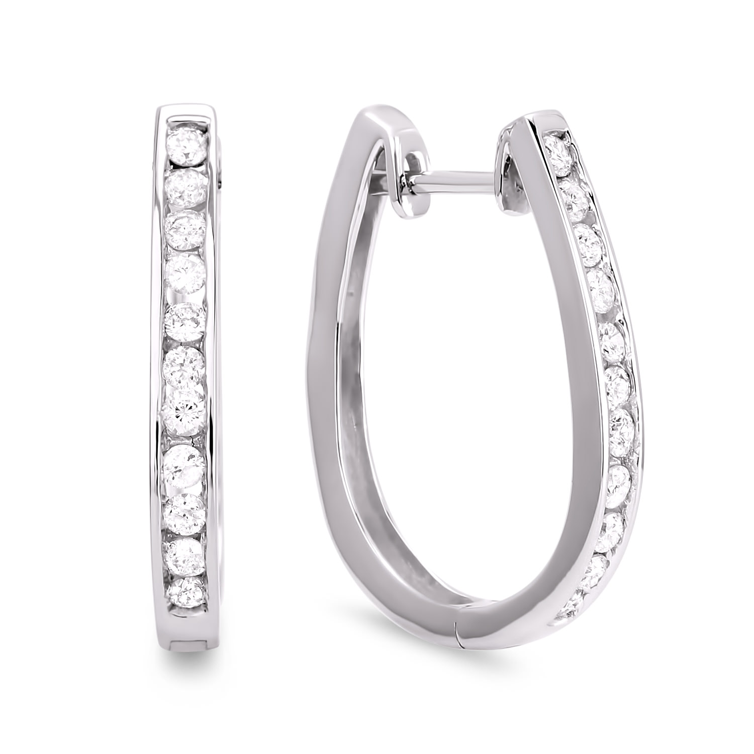 Diamond Hoop Earrings SGE128 (Earrings)