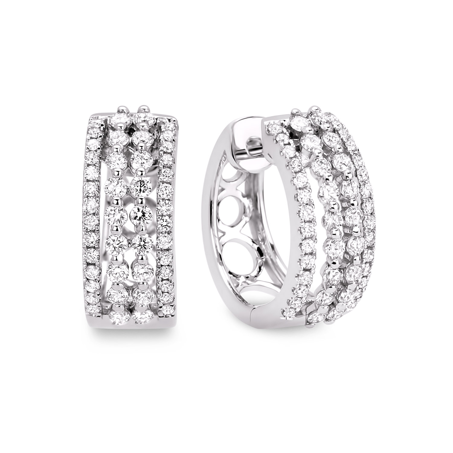 Diamond Hoop Earrings SGE157 (Earrings)