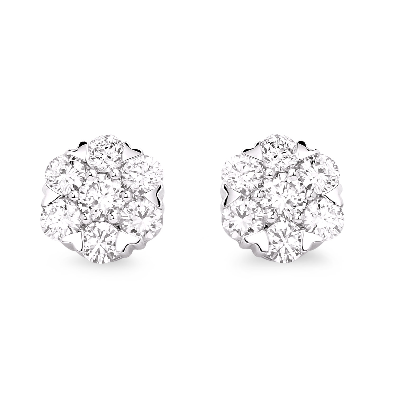 Diamond Stud Earrings SGE253 (Earrings)