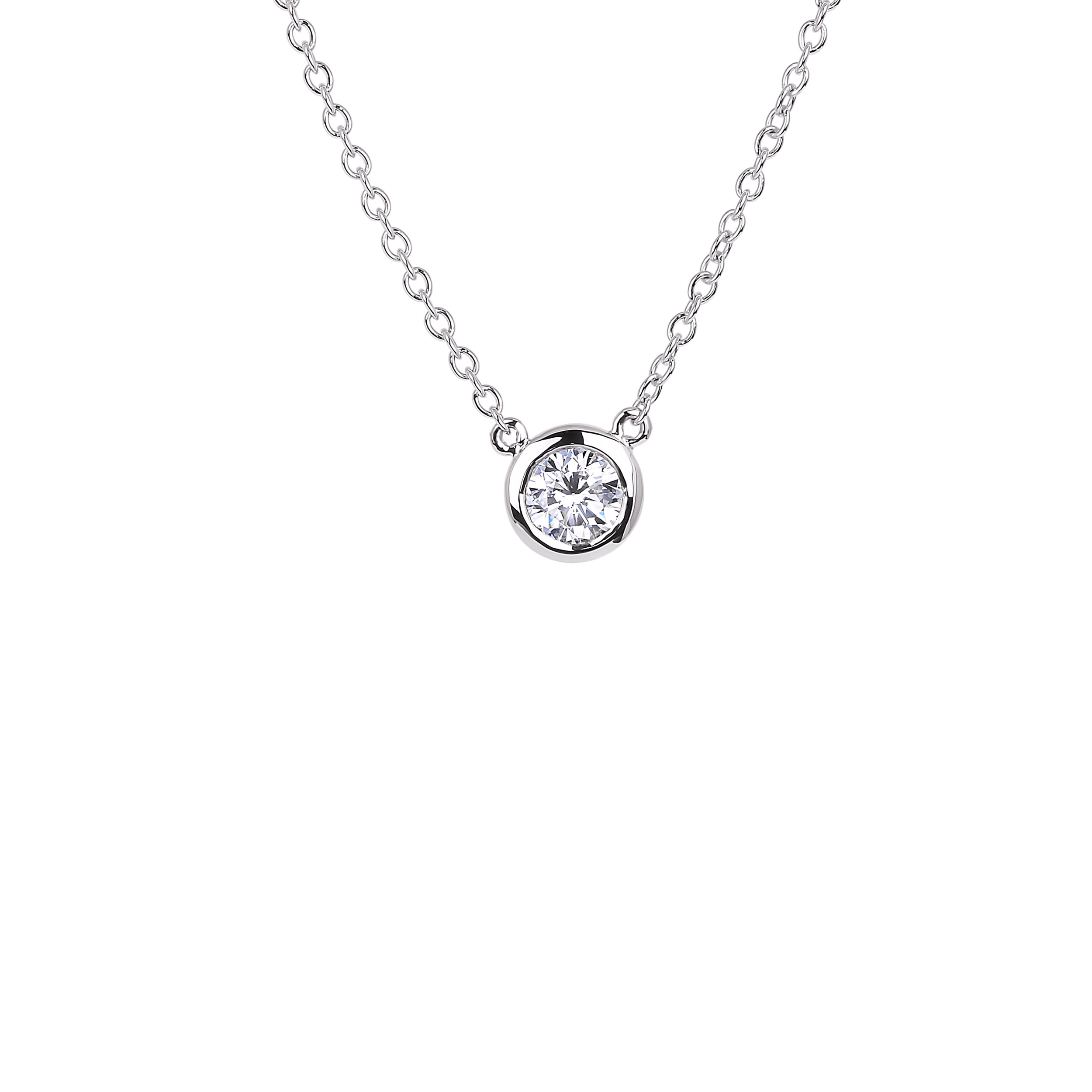Diamond Solitaire Pendants SGP245 (Pendants)