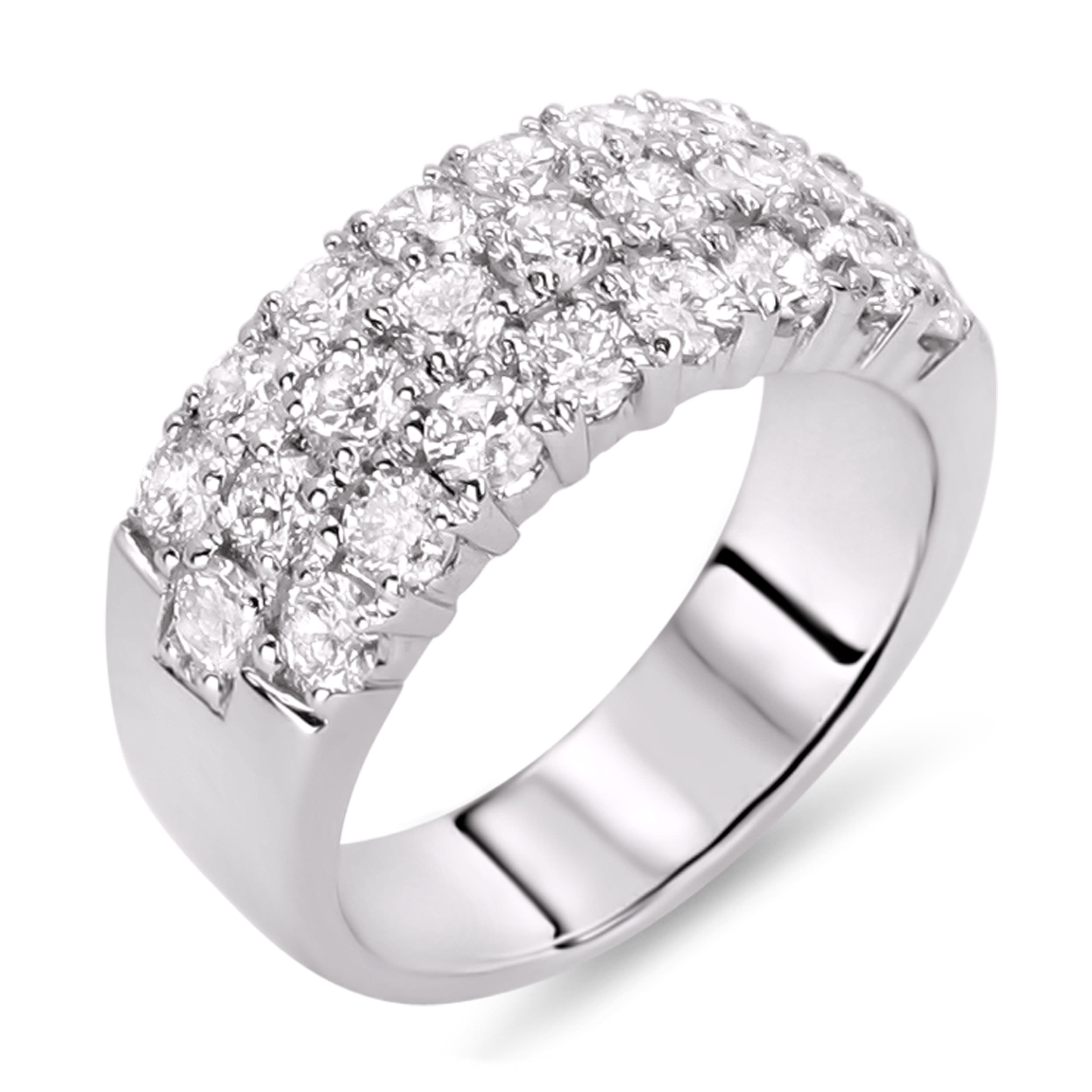 beautiful with rings wedding for how three engagement band stack anniversary tiffany stone to aniversary her ring