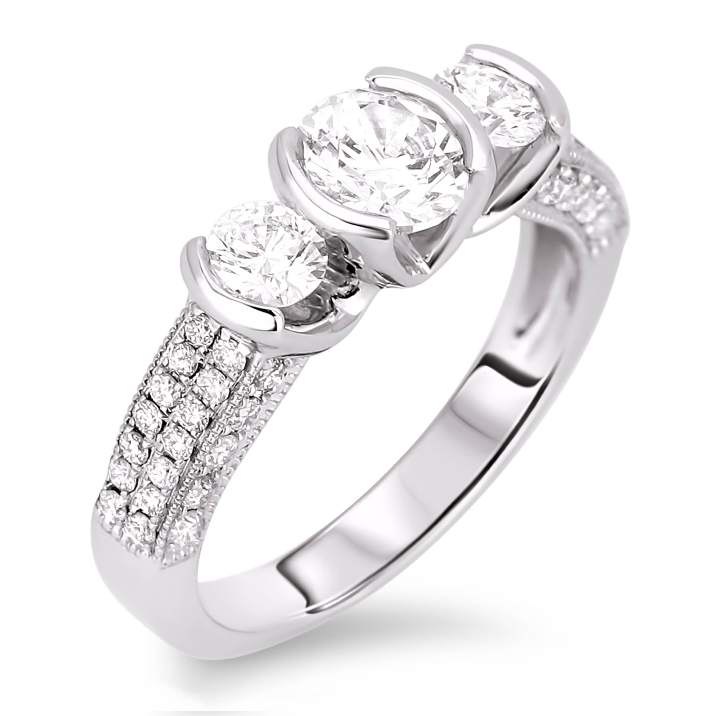 Diamond Three Stone Rings SGR303 (Rings)