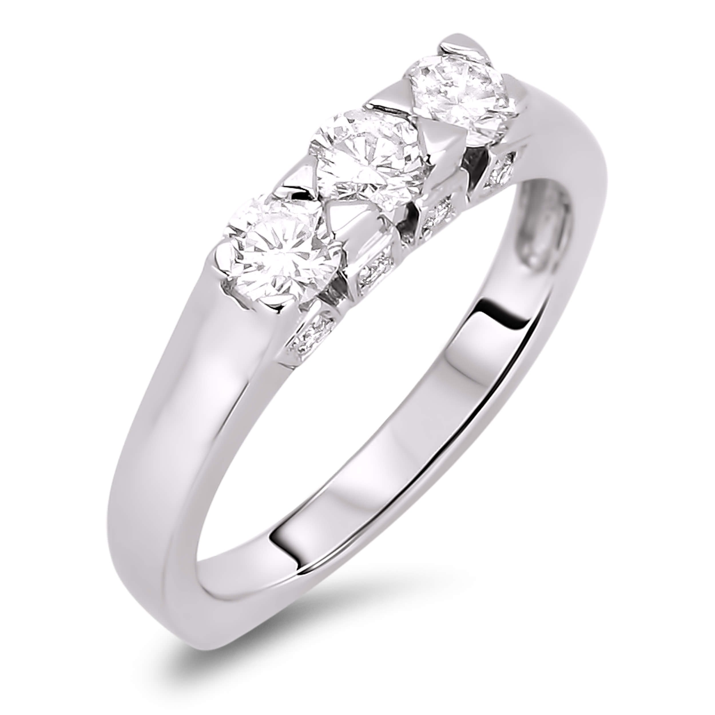 Diamond Three Stone Rings SGR300 (Rings)