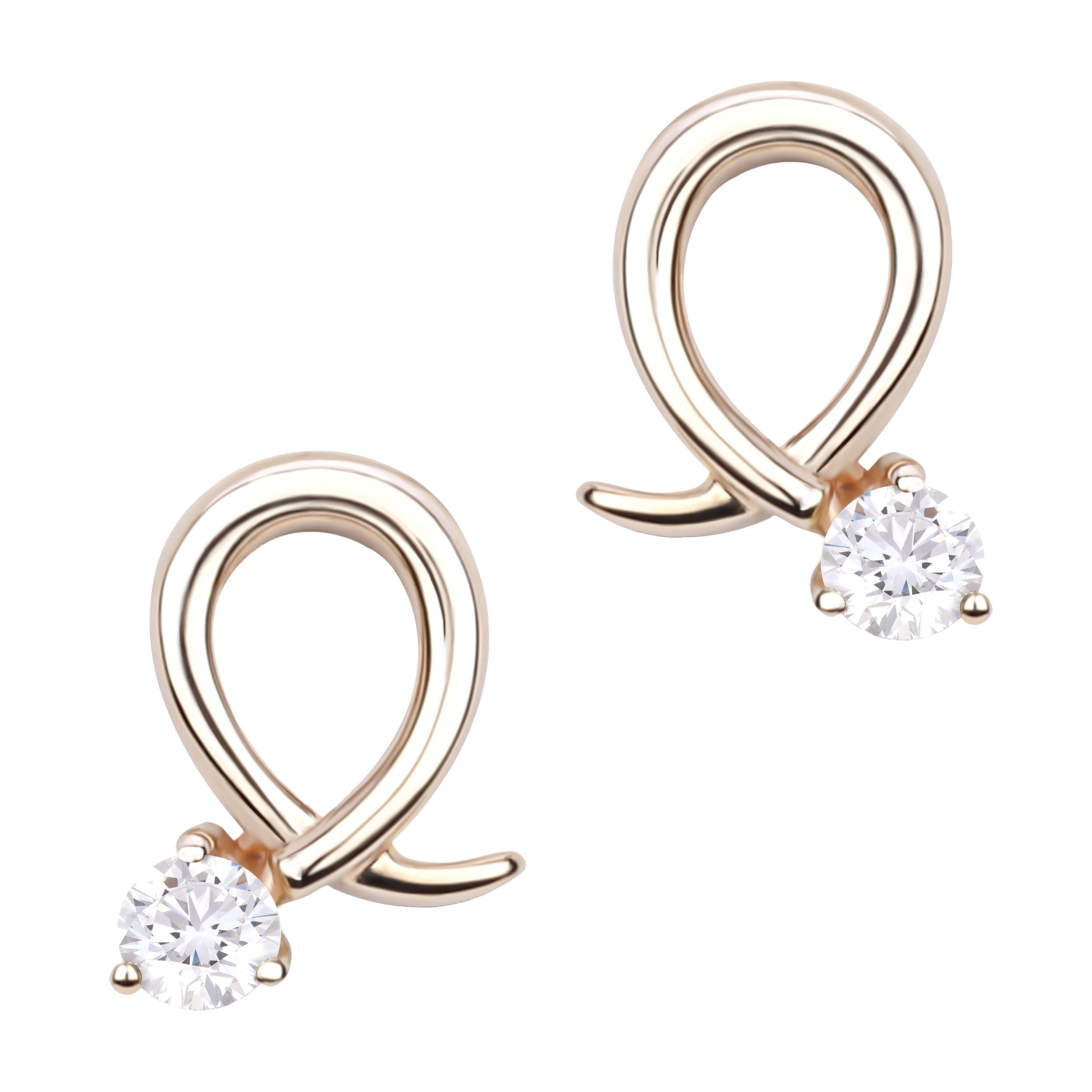 Diamond Stud Earrings SEC-E327 (Earrings)