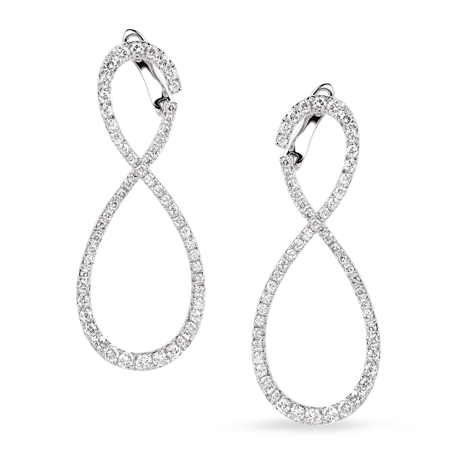 Diamond Hoop Earrings SGE244 (Earrings)