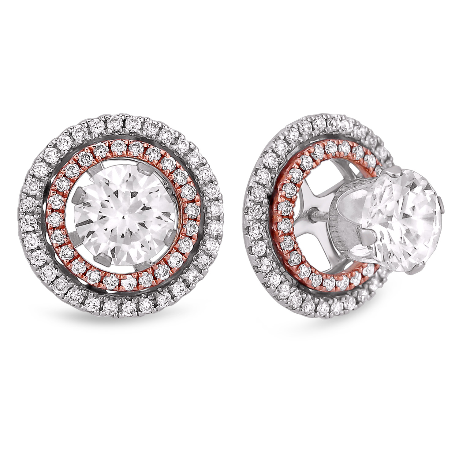 Diamond Stud Earrings SGE260 (Earrings)