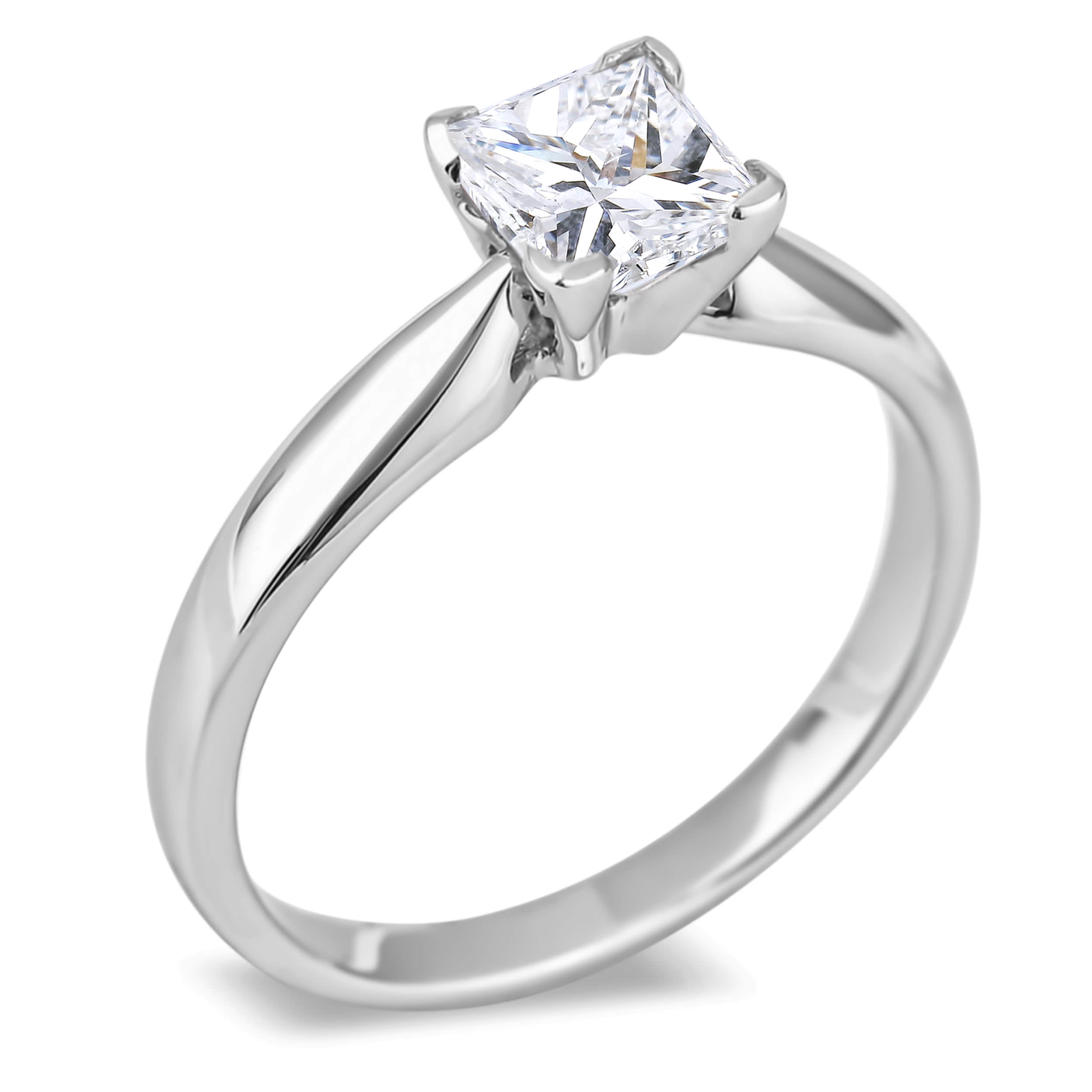 Diamond Solitaire Rings SGR517PC (Rings)