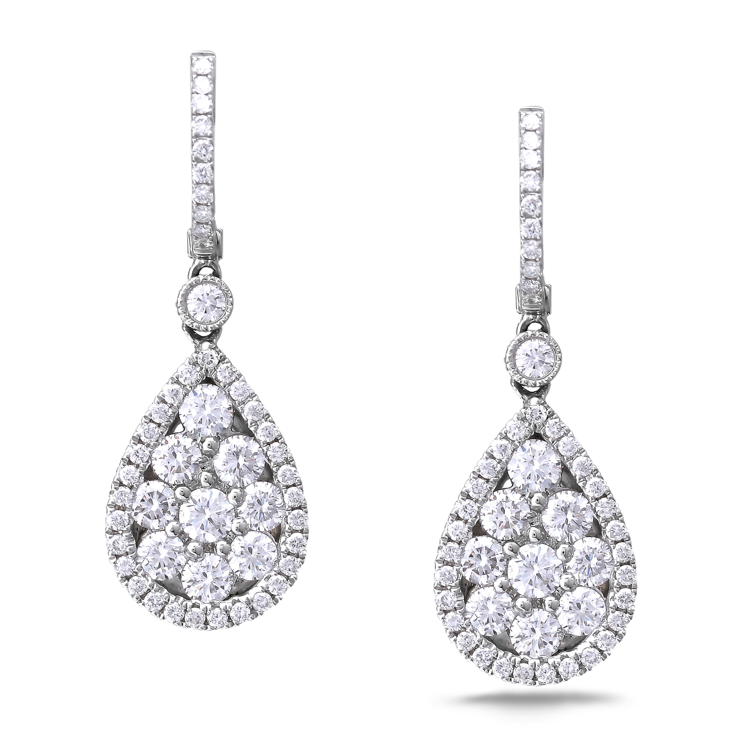 Diamond Dangle Earrings SGE230 (Earrings)