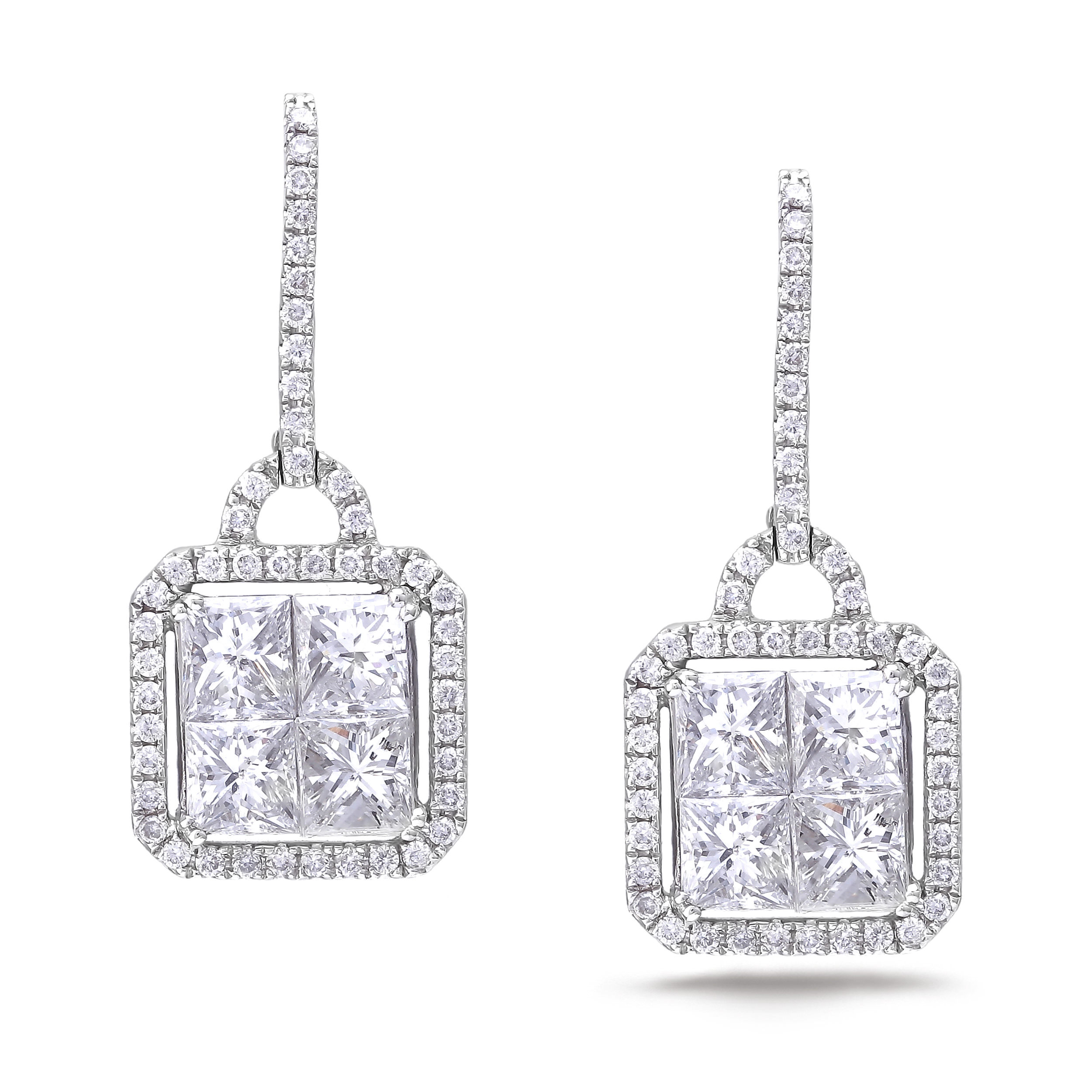 Diamond Dangle Earrings SGE138 (Earrings)