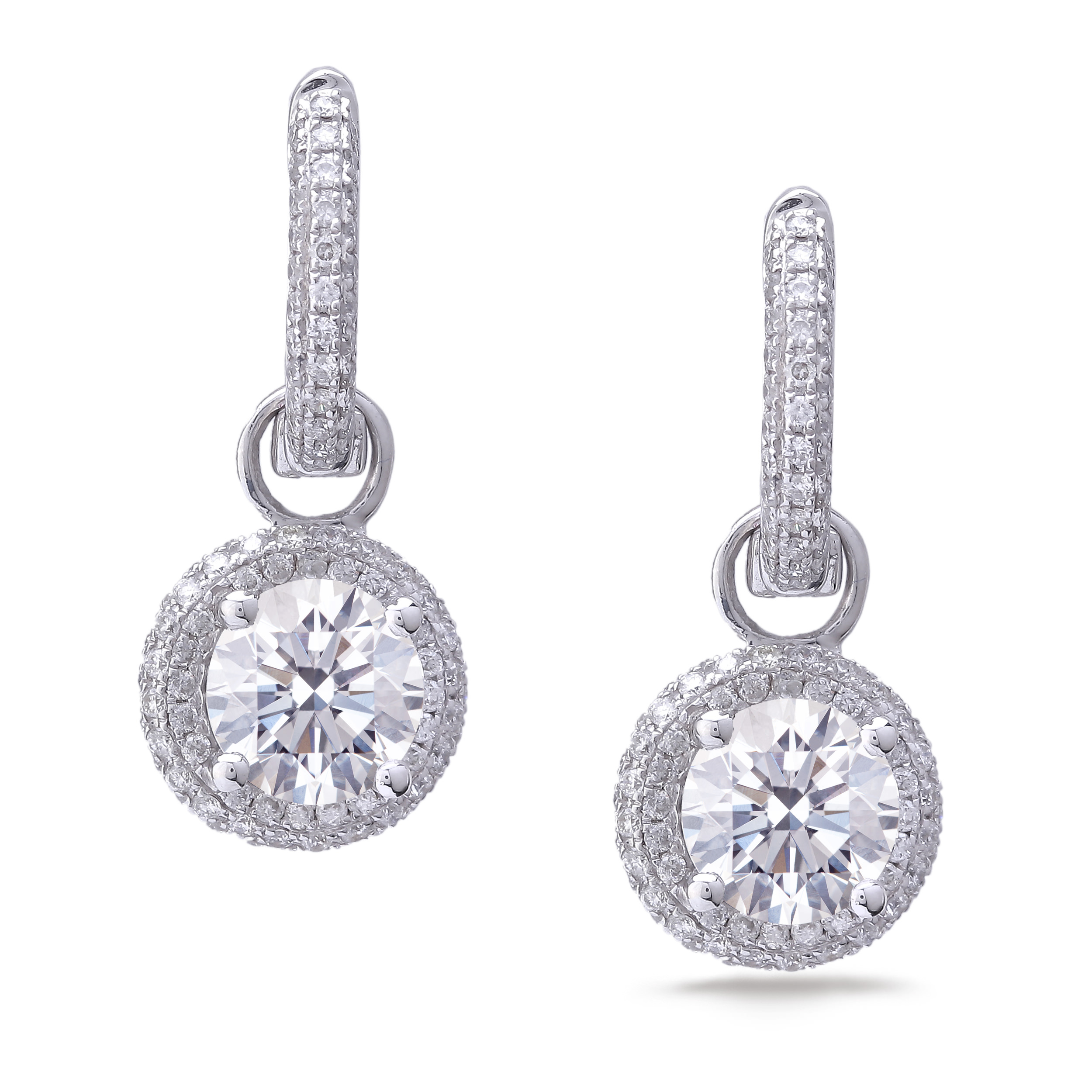 Diamond Dangle Earrings SGE215 (Earrings)