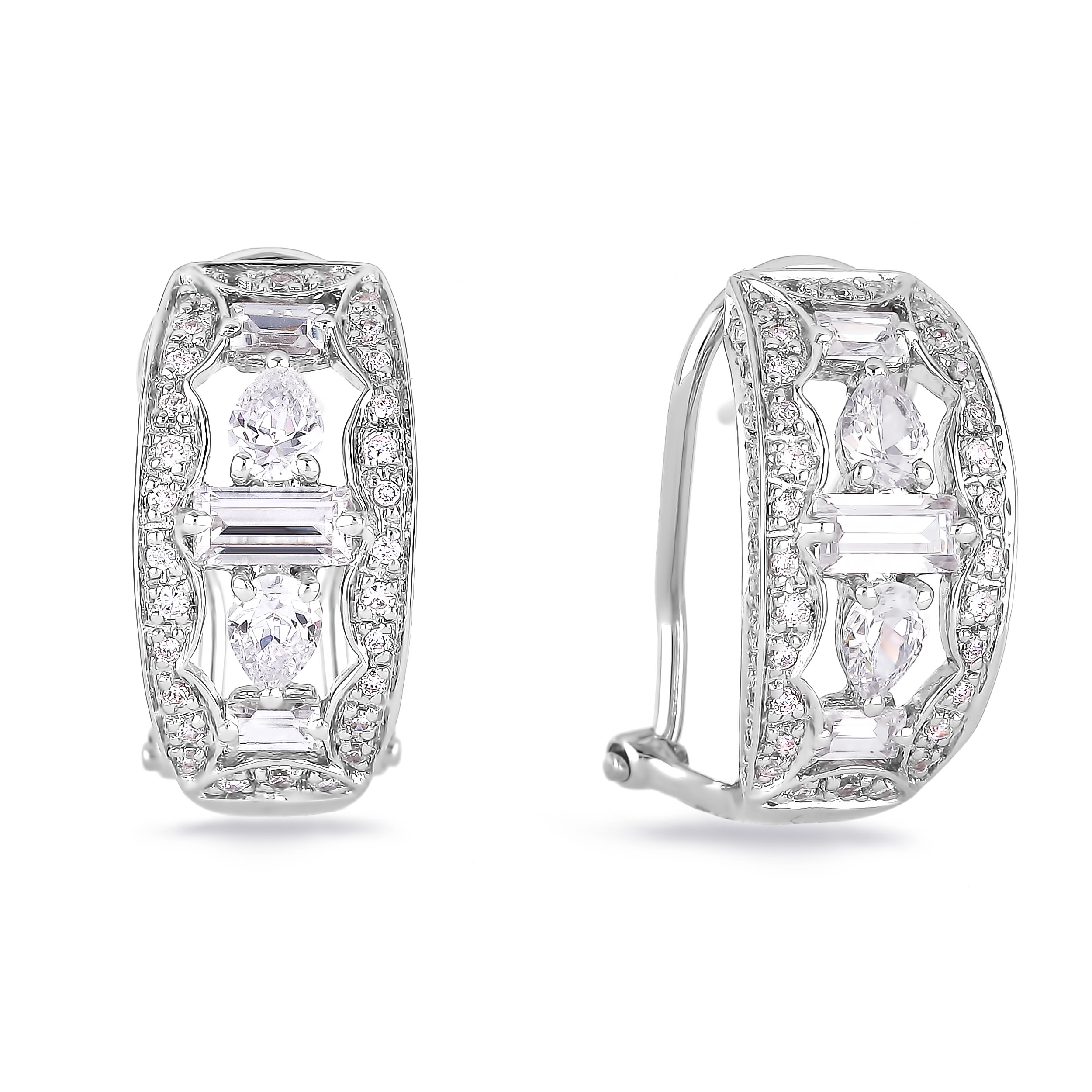 Diamond Hoop Earrings SGE263 (Earrings)