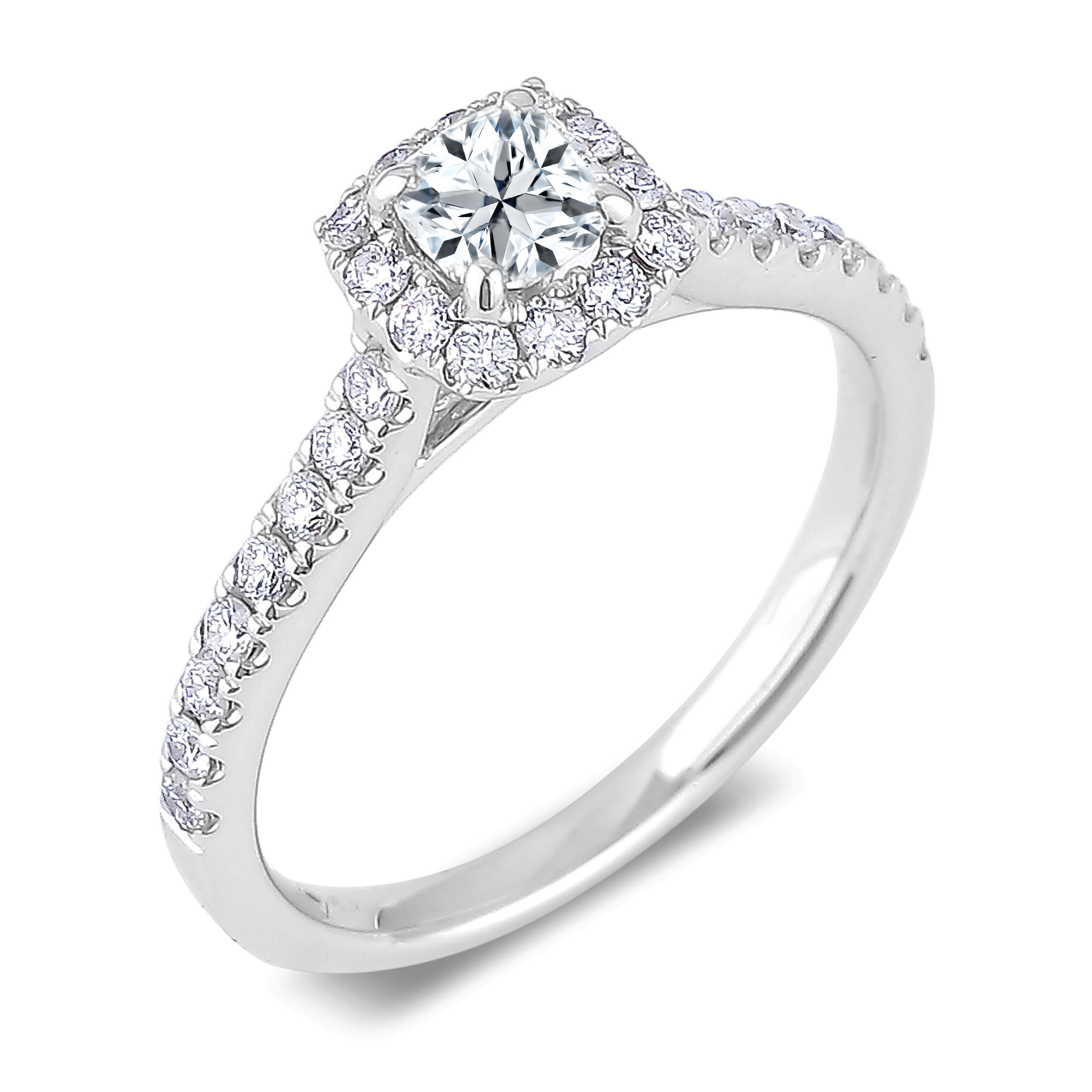 Diamond Engagement Halo Rings SGR1007 (Rings)