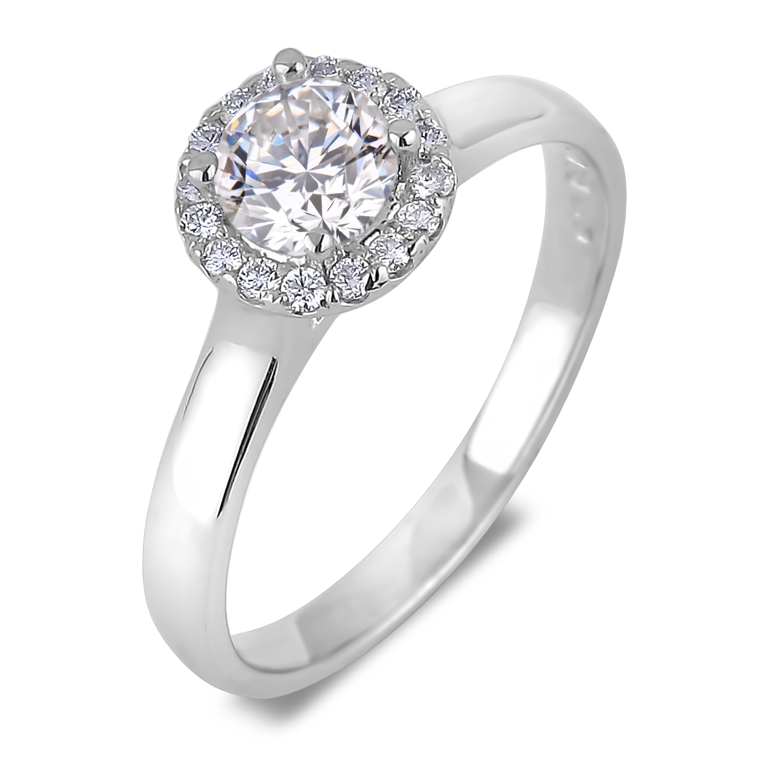 Diamond Engagement Halo Rings SGR1014 (Rings)