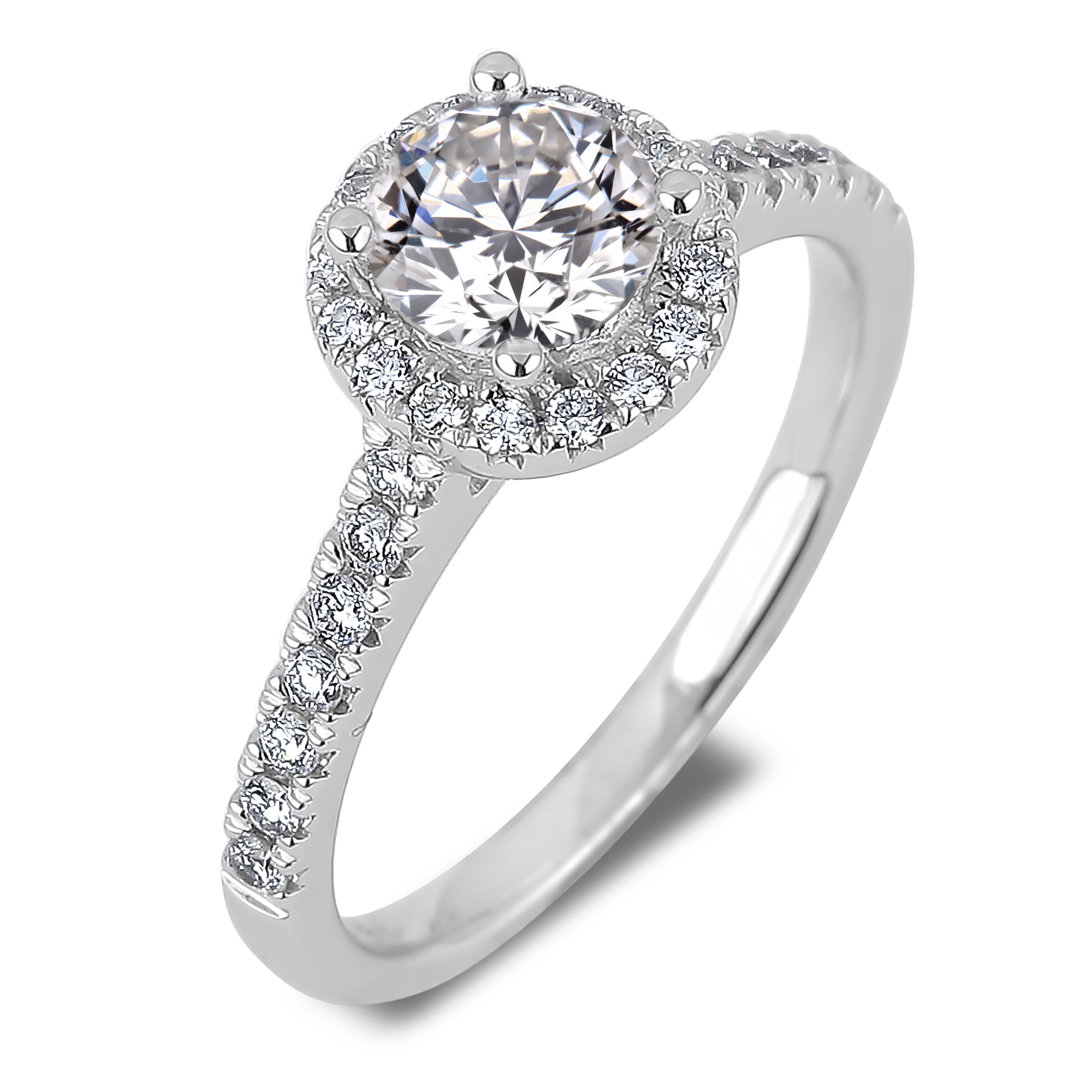 Diamond Engagement Halo Rings SGR1013 (Rings)