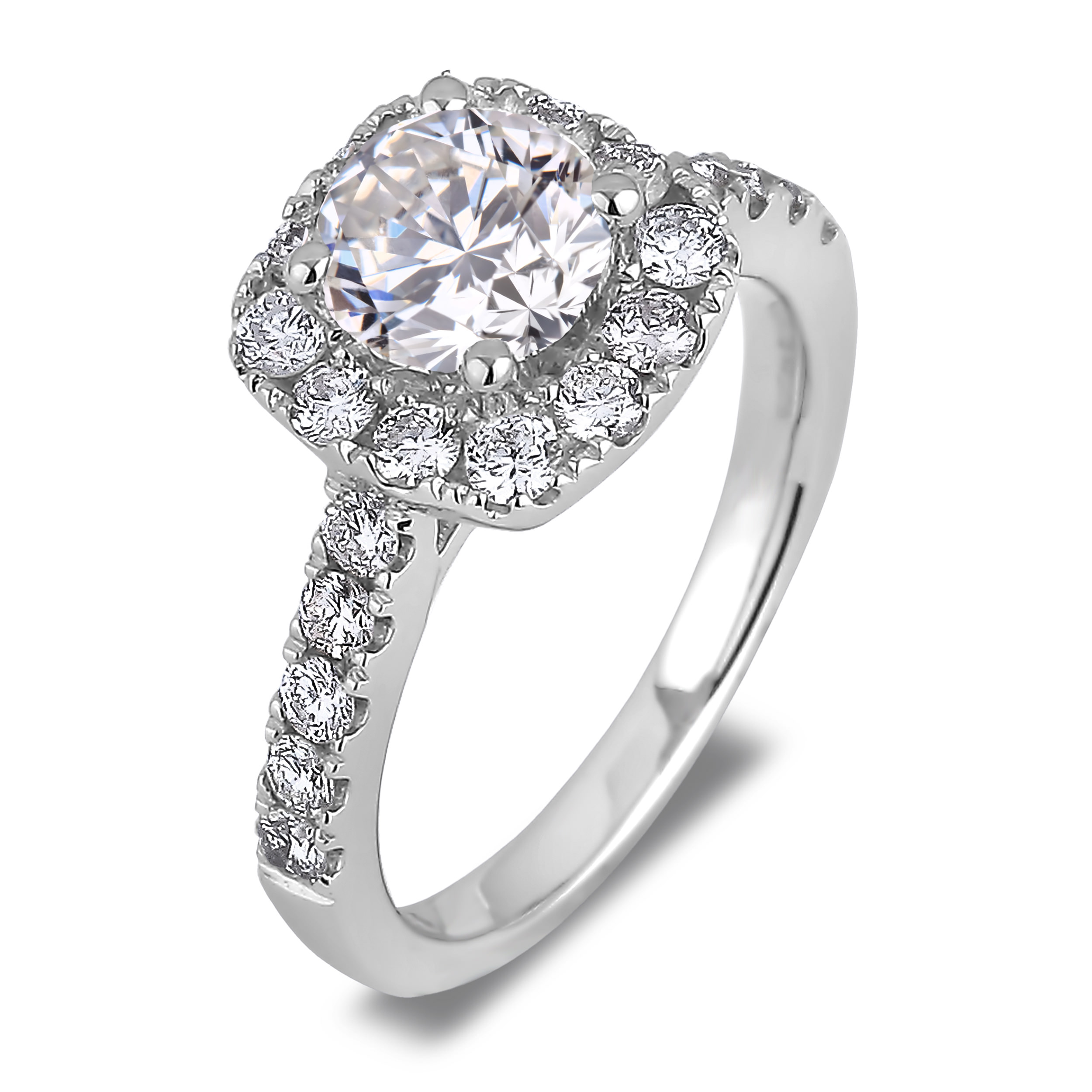 Diamond Engagement Halo Rings SGR1024 (Rings)