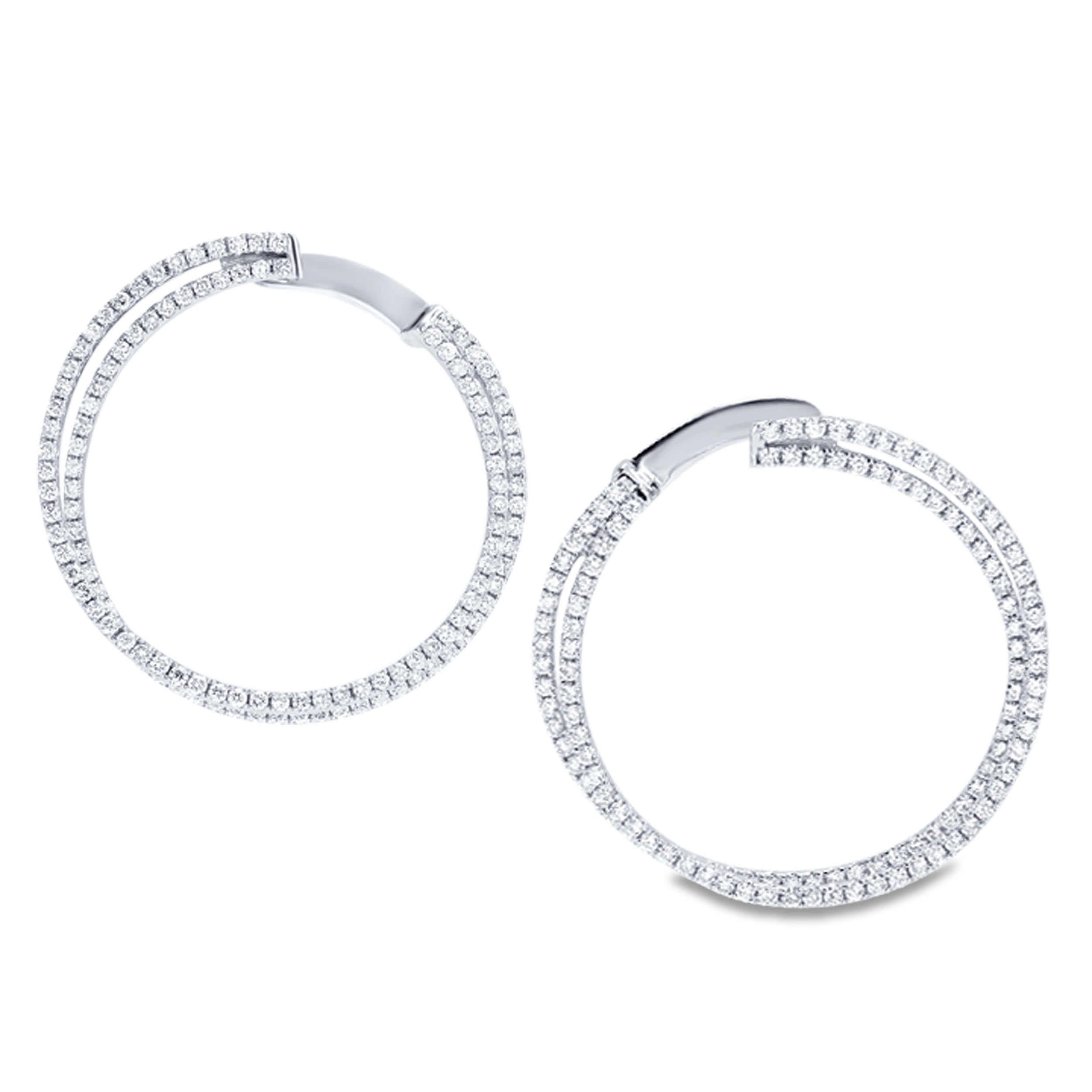 Diamond Hoop Earrings SGE111 (Earrings)