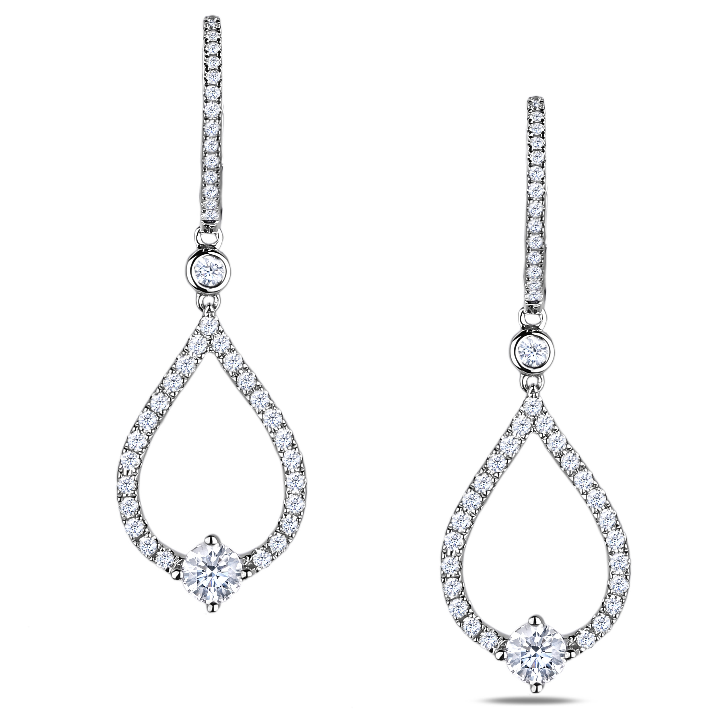 Diamond Dangle Earrings SGP209-294P (Earrings)