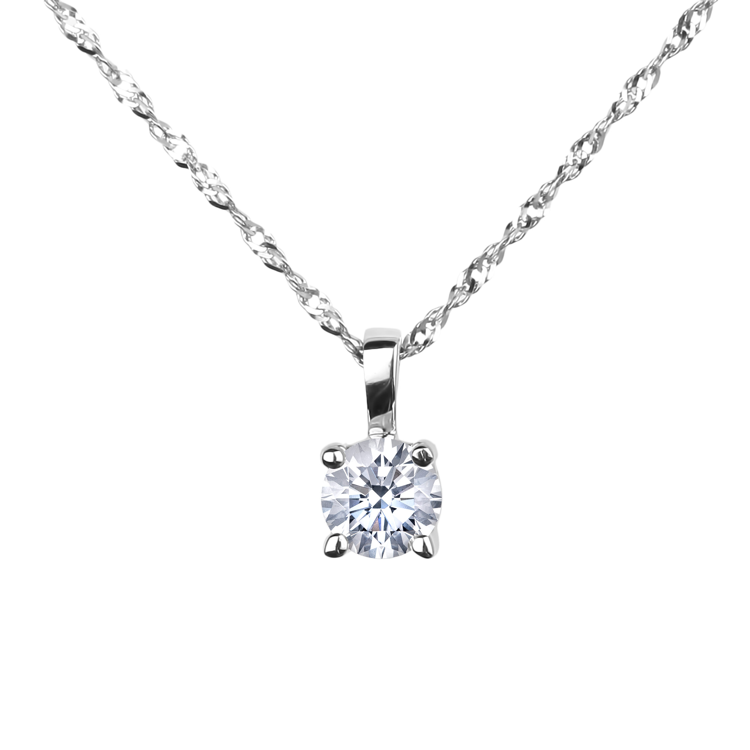 Diamond Solitaire Pendants SGP315 (Pendants)