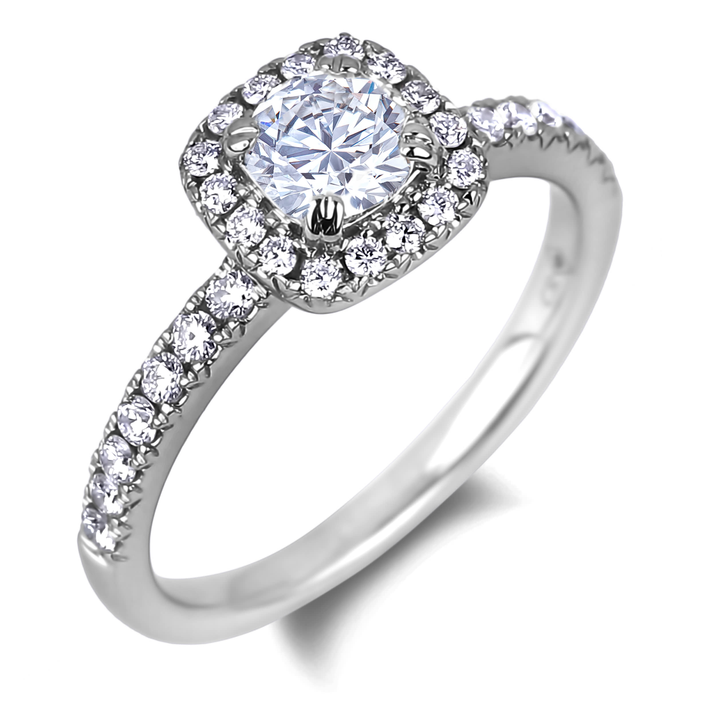 Diamond Engagement Halo Rings SGR1064 (Rings)