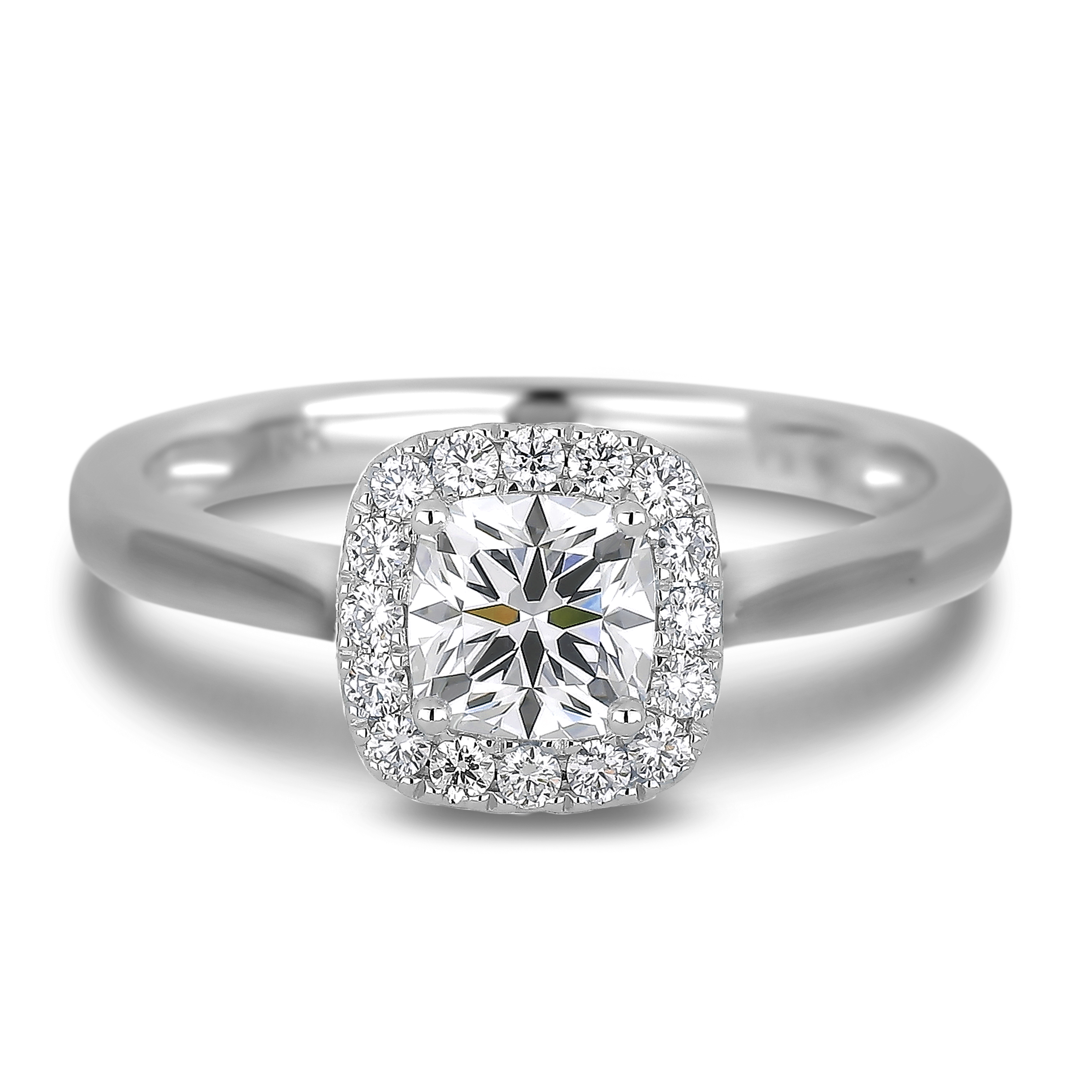 Diamond Engagement Halo Rings SGR579-SGH06 (Rings)