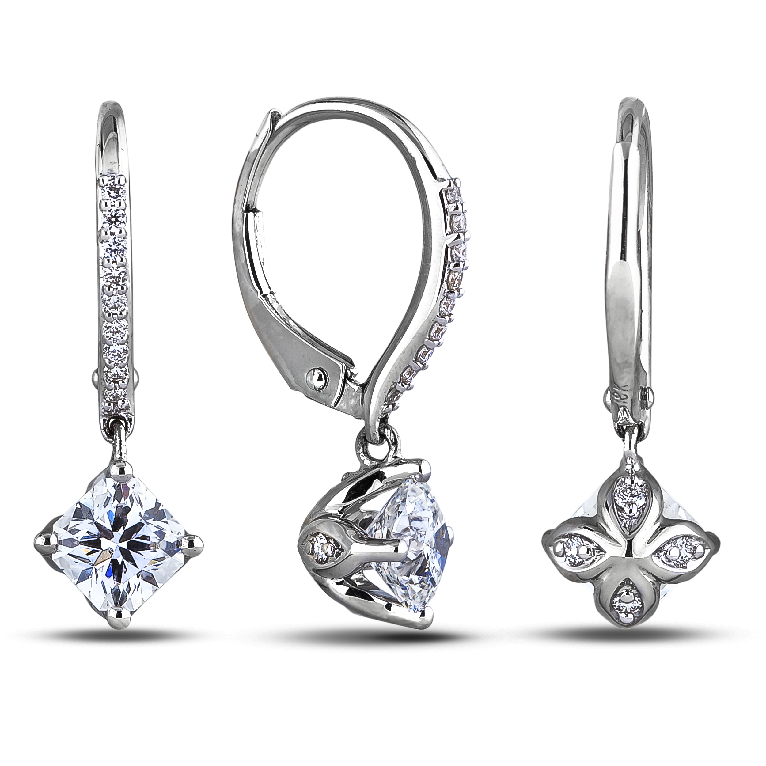 Diamond Dangle Earrings SGE339 (Earrings)