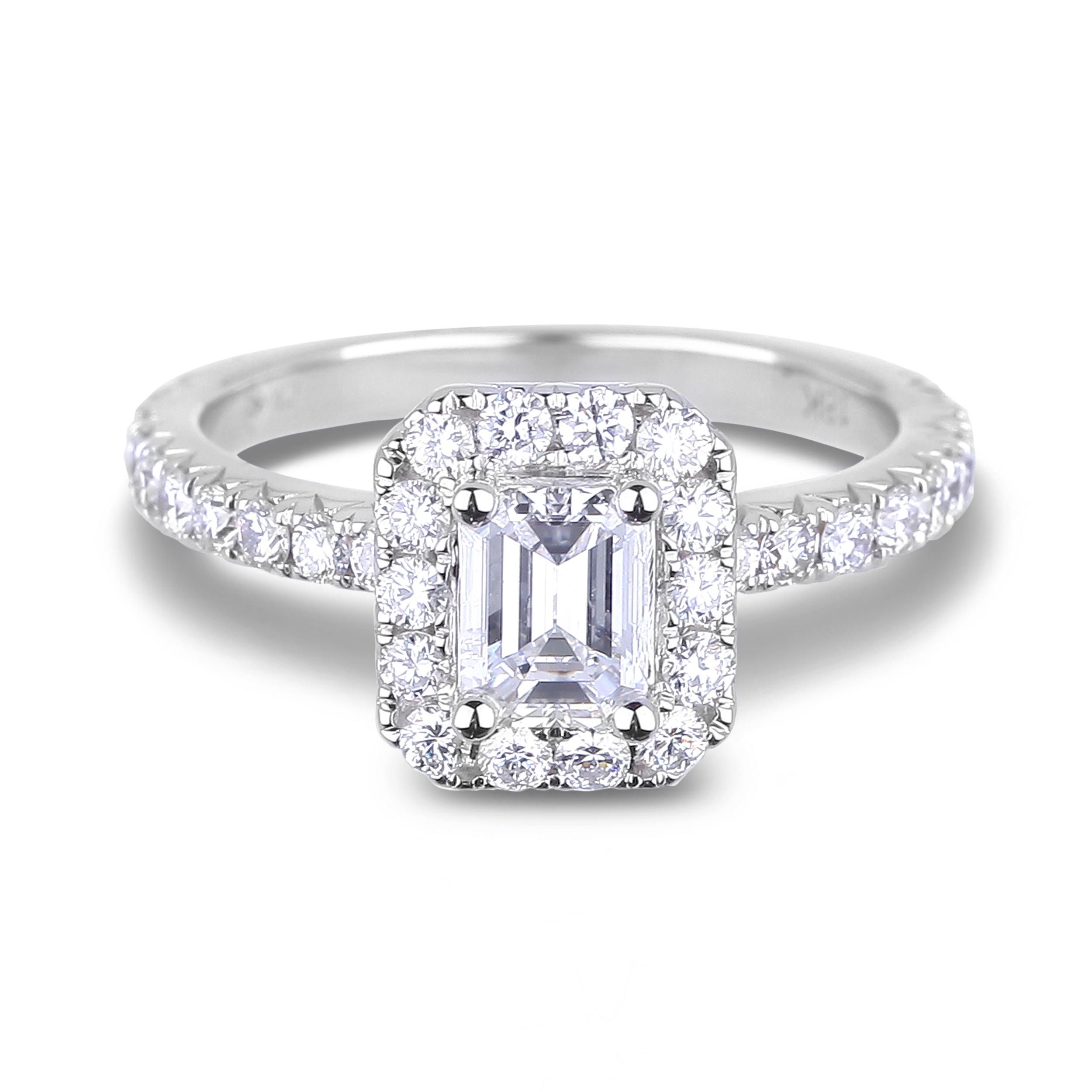 Diamond Engagement Halo Rings SGR1039 (Rings)
