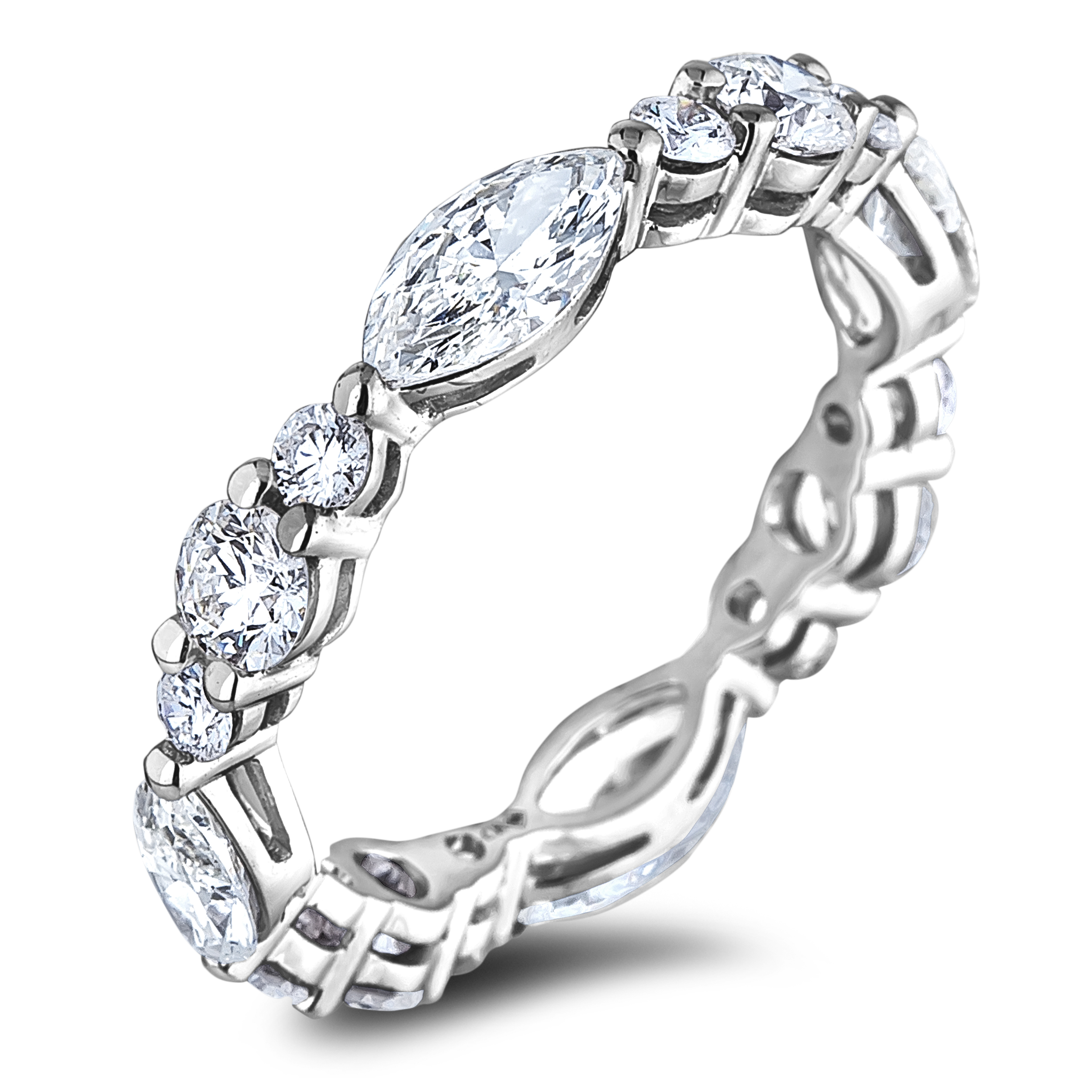 Diamond Anniversary Rings SGR1184 (Rings)