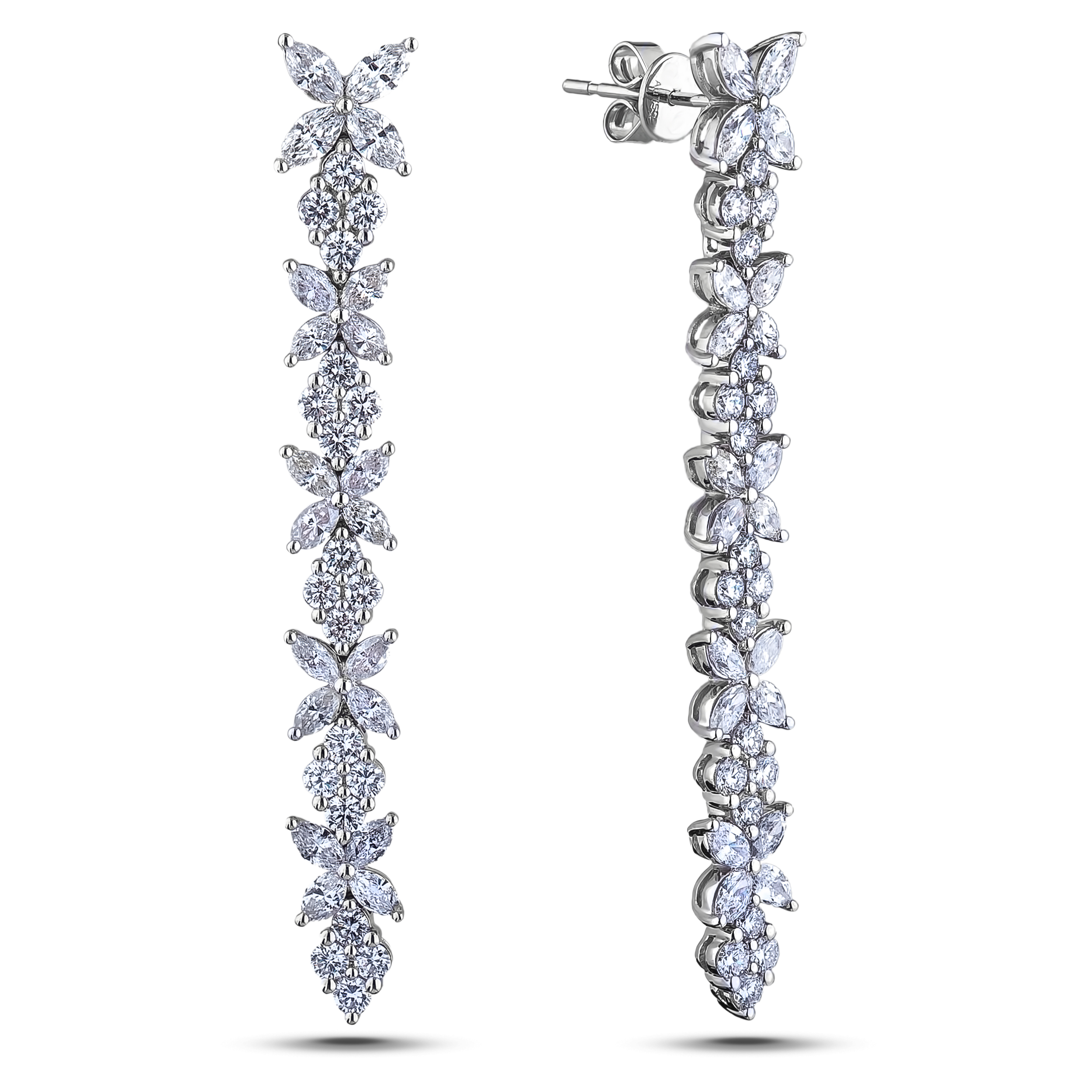 Diamond Dangle Earrings SGE343 (Earrings)