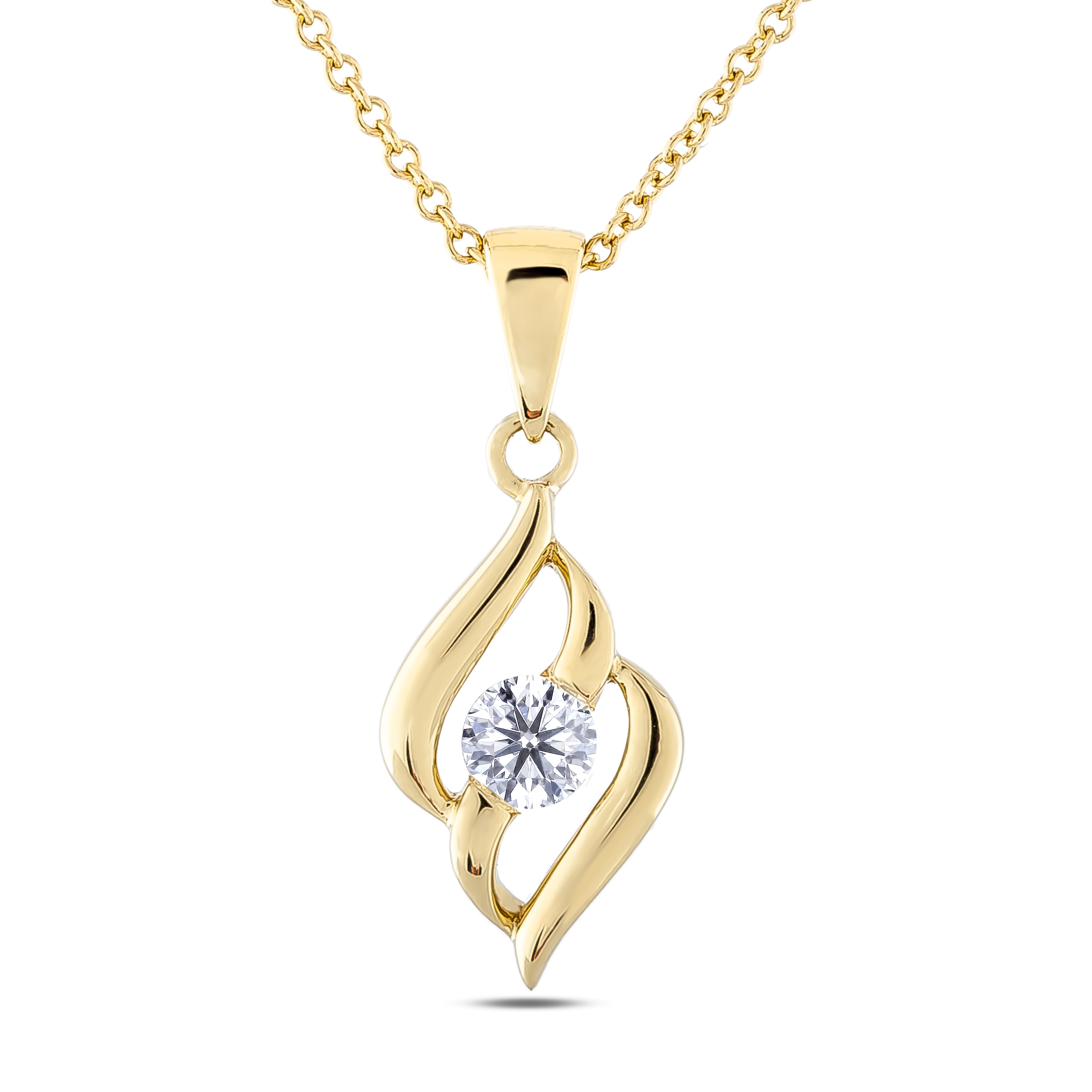 Diamond Solitaire Pendants SGP321 (Pendants)