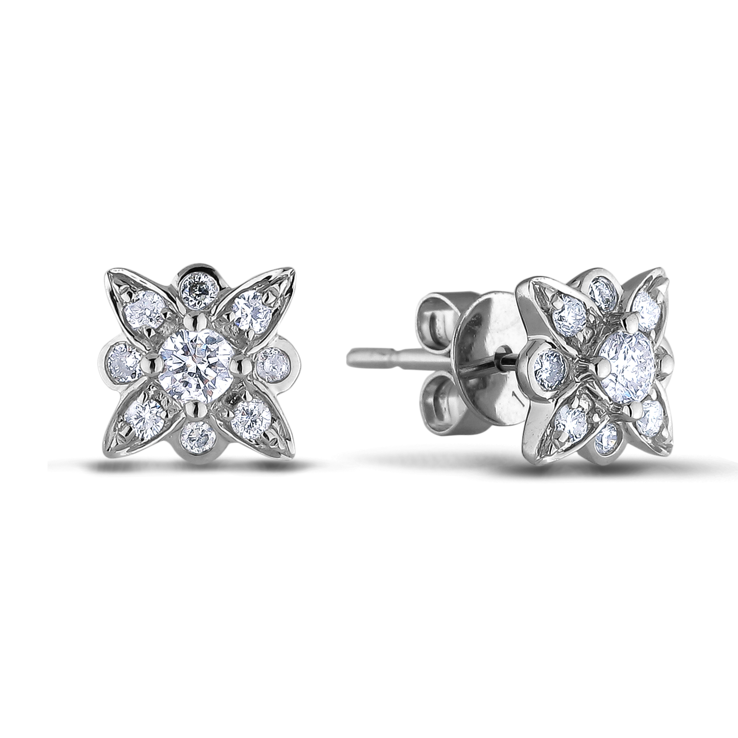 Diamond Stud Earrings SGE342 (Earrings)