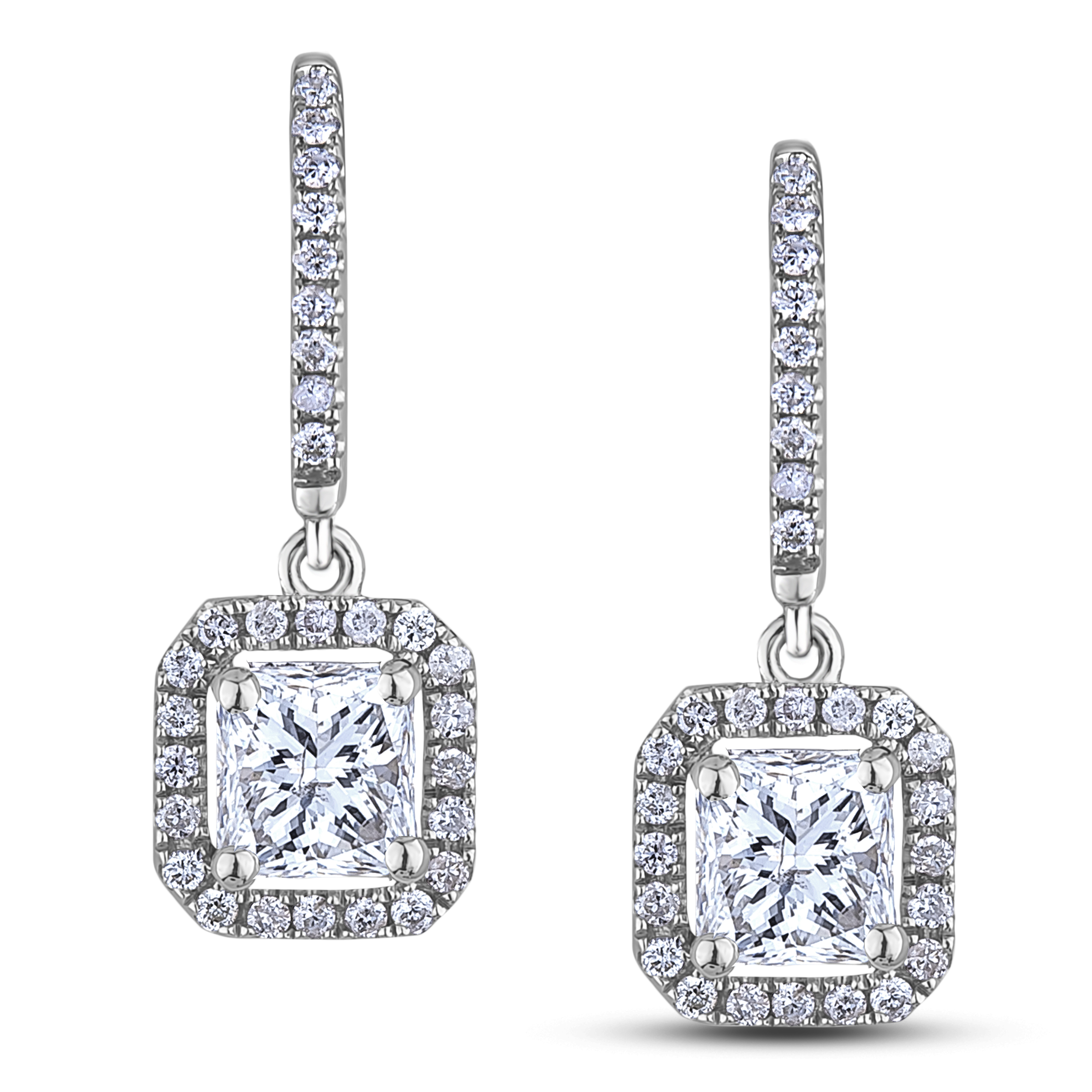 Diamond Dangle Earrings SGE272 (Earrings)