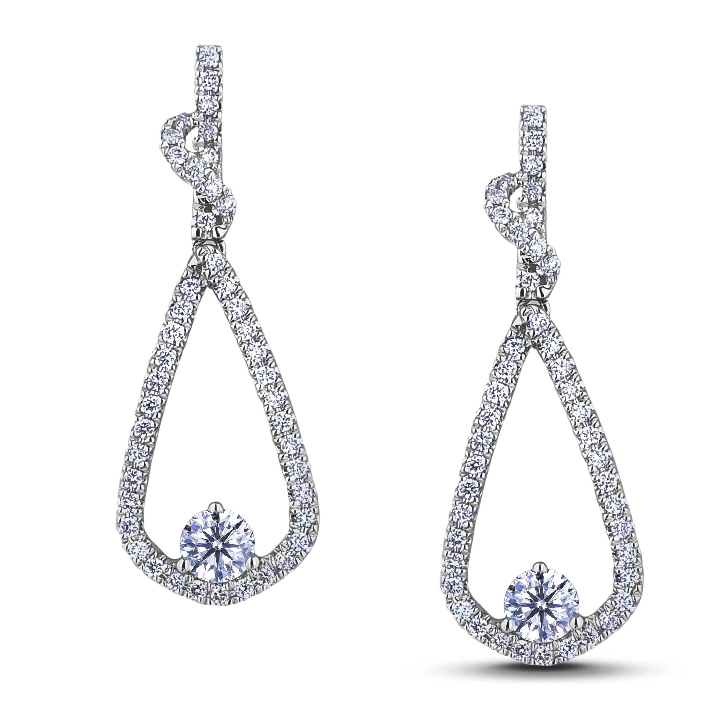 Diamond Dangle Earrings SGE307-315E (Earrings)