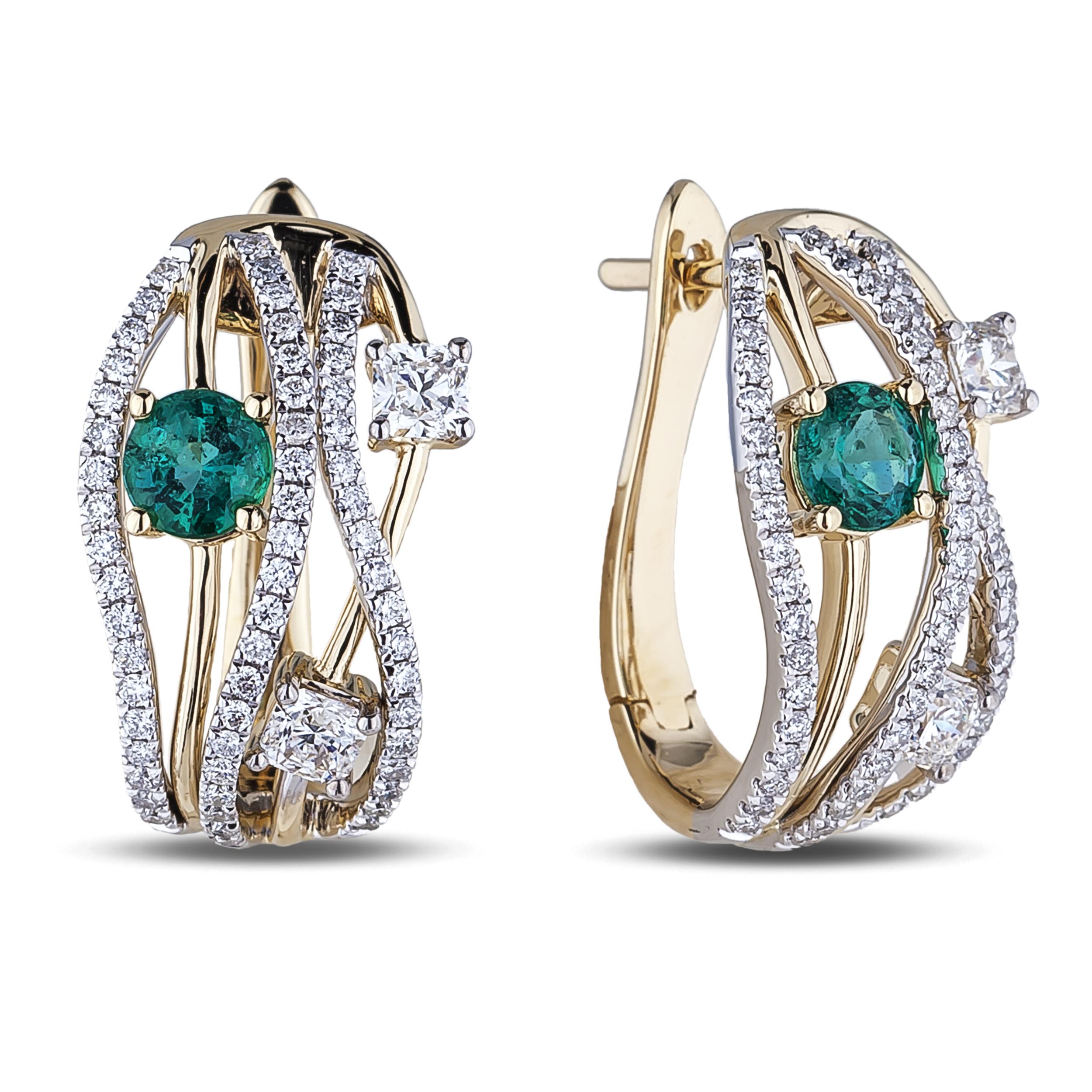 Diamond Hoop Earrings SGE348 (Earrings)