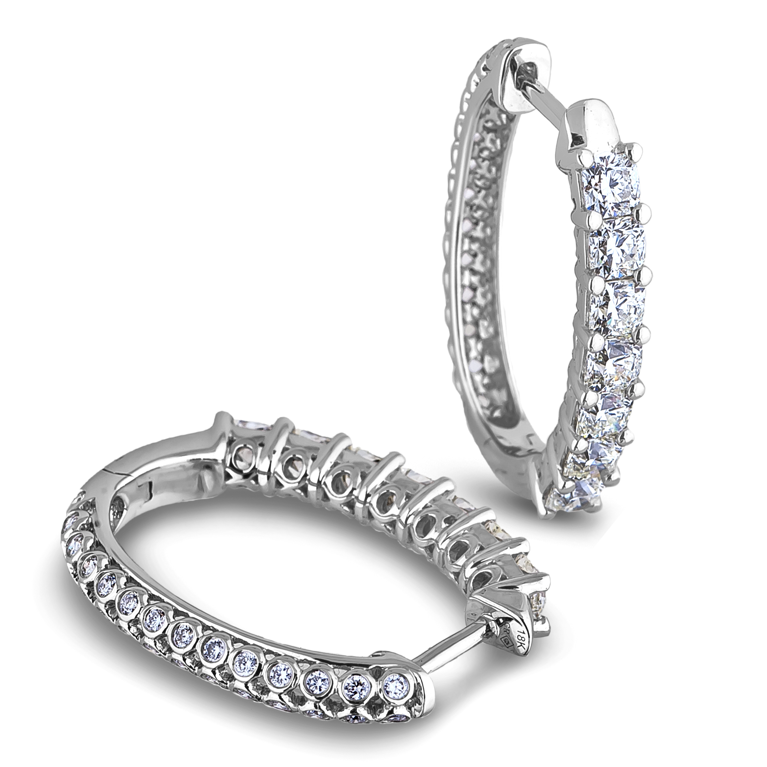 Diamond Hoop Earrings SGE349 (Earrings)