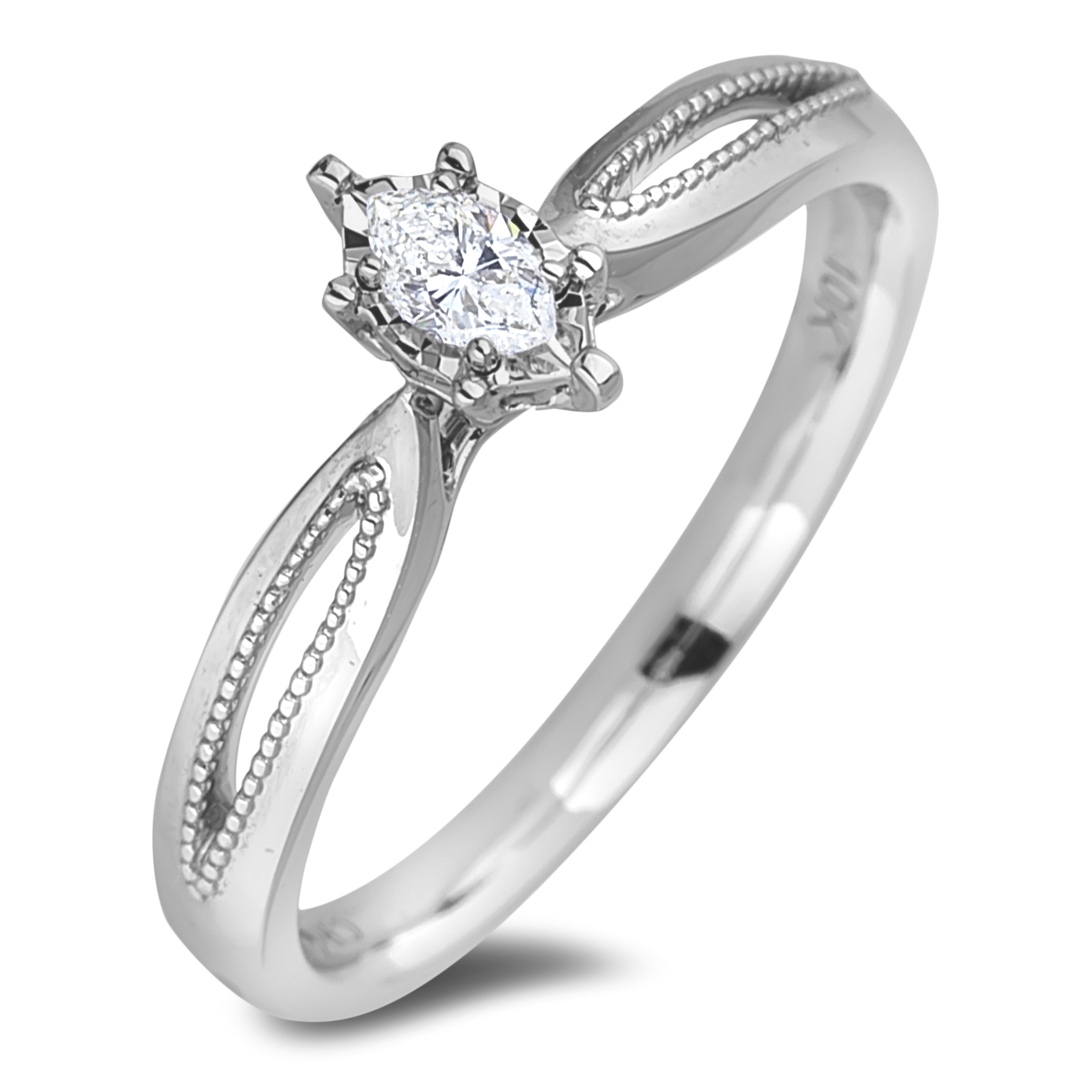 Diamond Solitaire Rings JS-AFCR2133 (Rings)