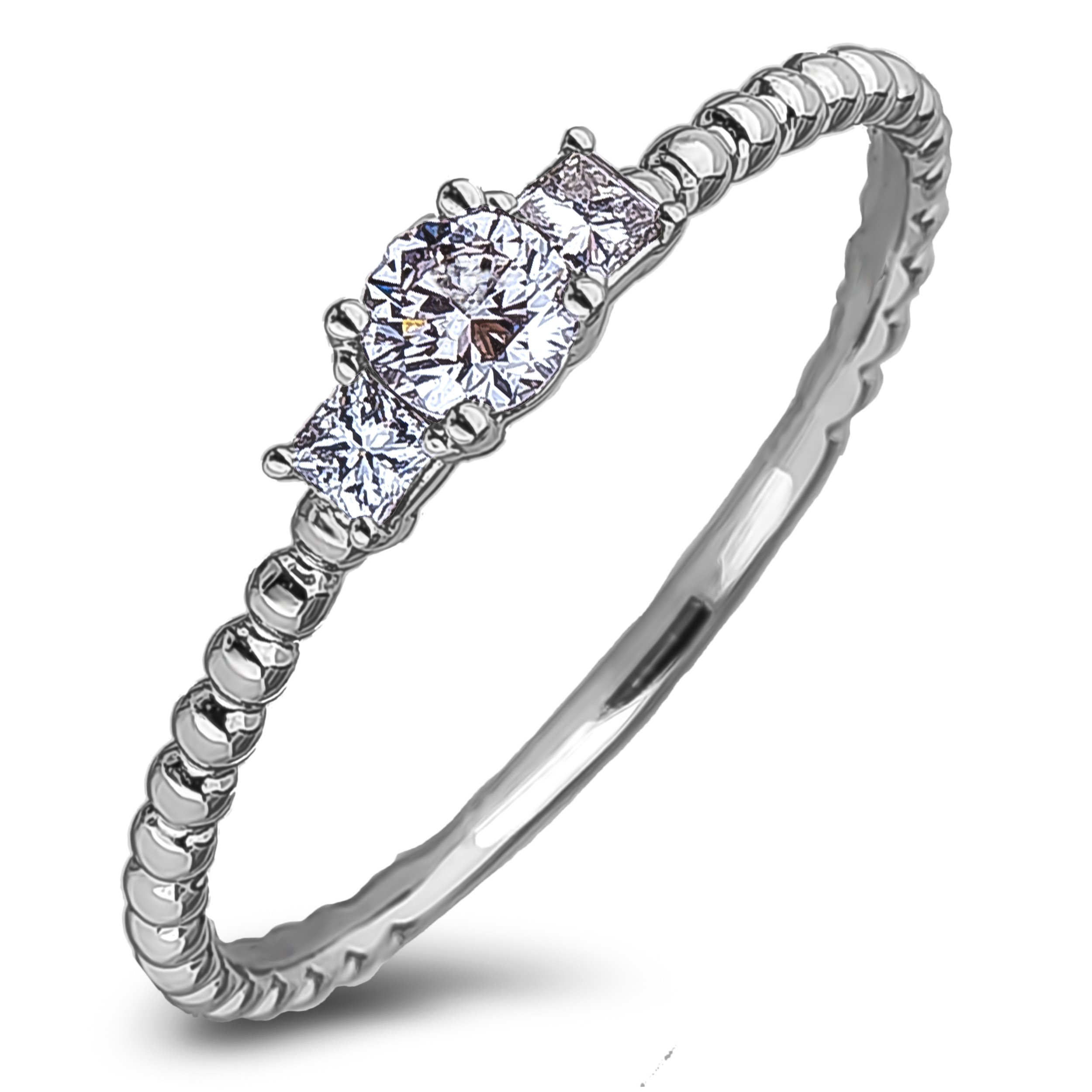 Diamond Three Stone Rings JSL-AFR2137 (Rings)