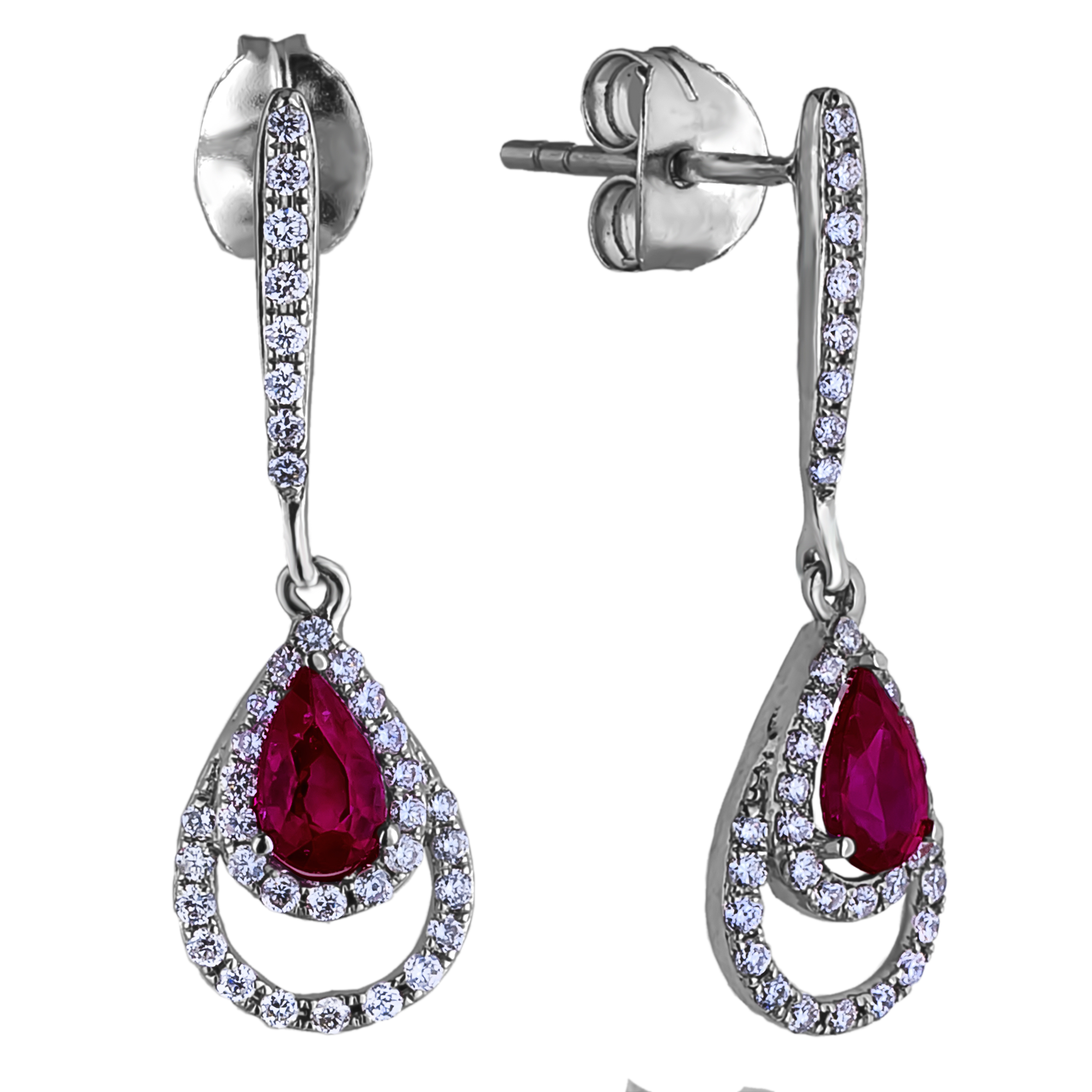 Diamond Dangle Earrings SGE355 (Earrings)