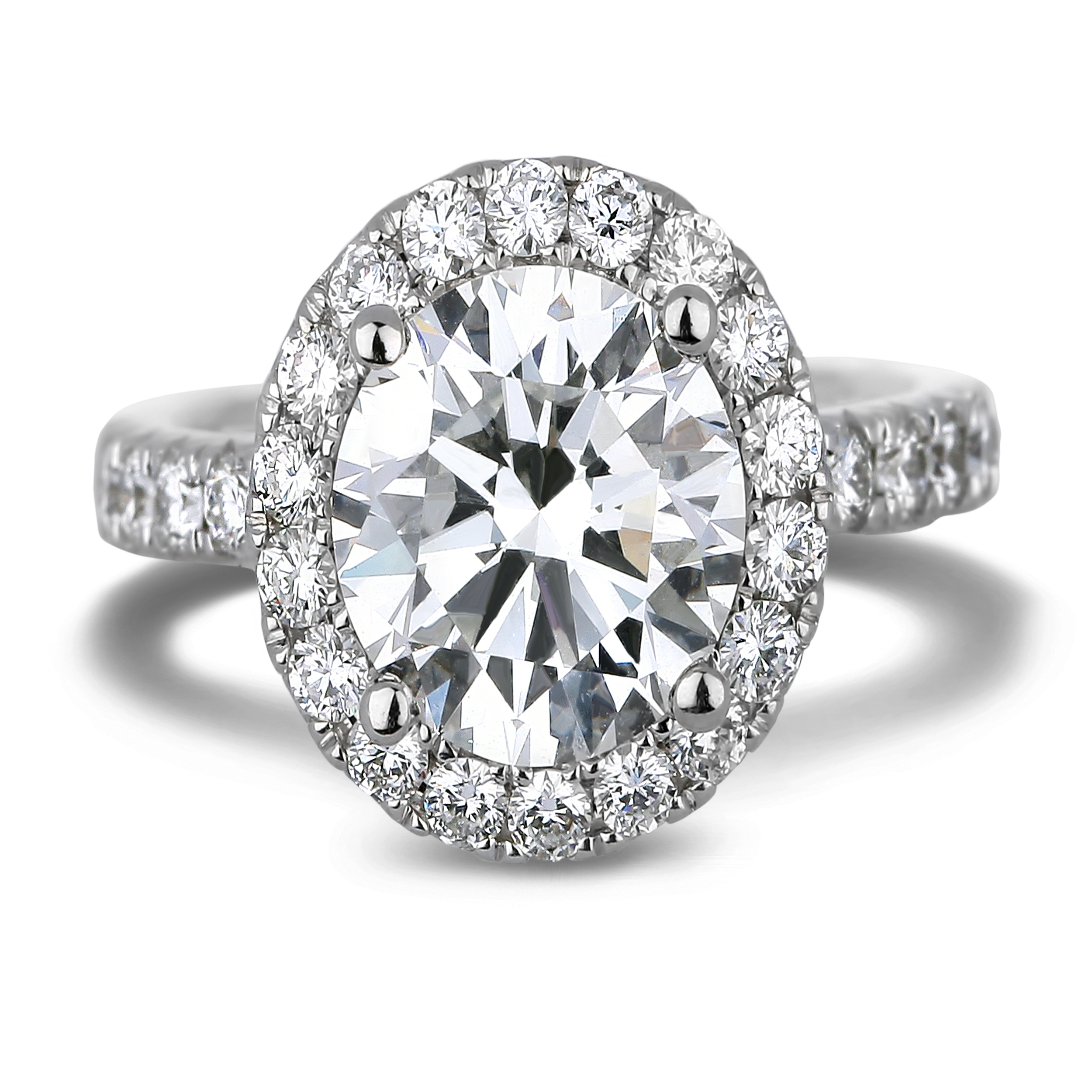 Diamond Engagement Halo Rings 1073 (Rings)