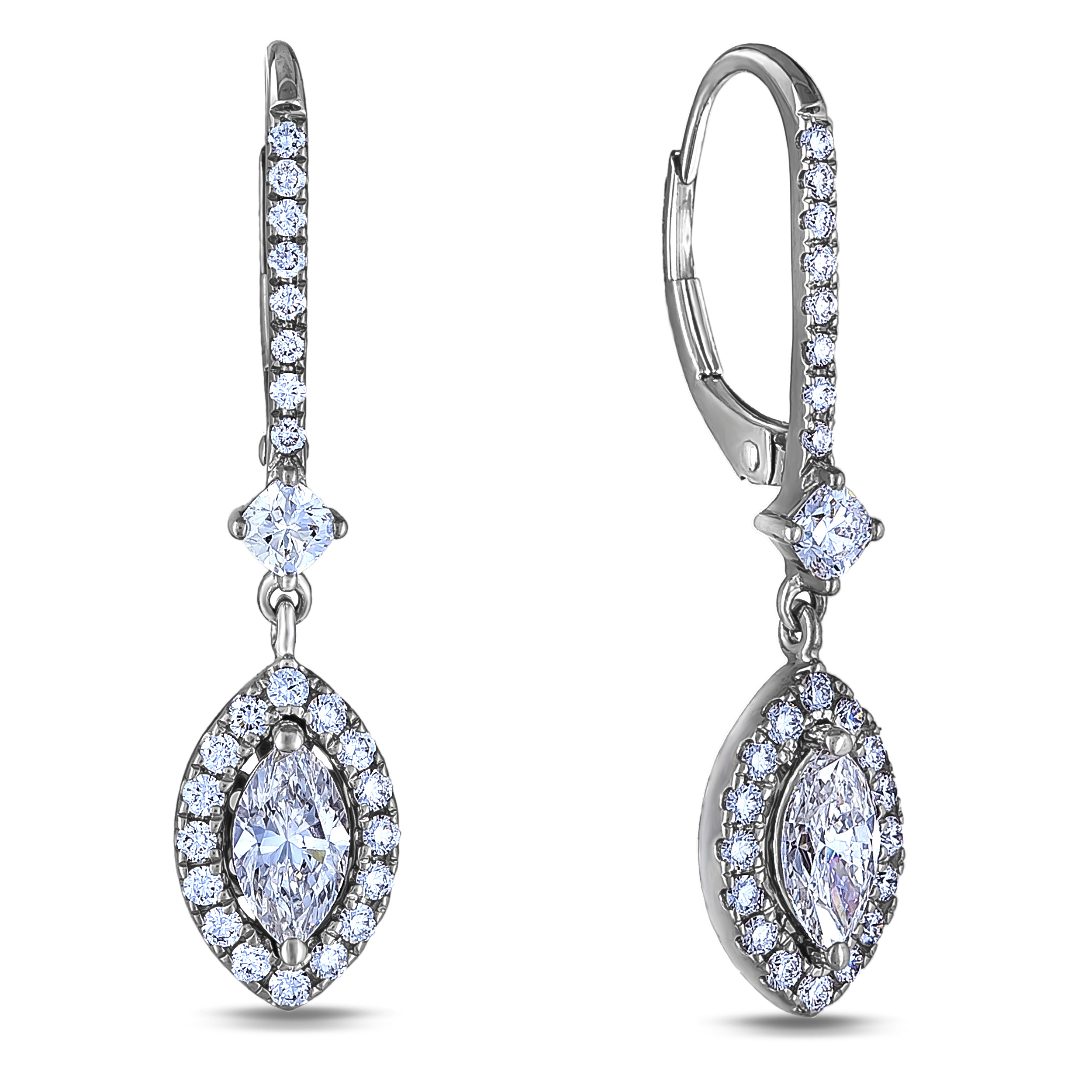 Diamond Dangle Earrings SGE329-MQ (Earrings)