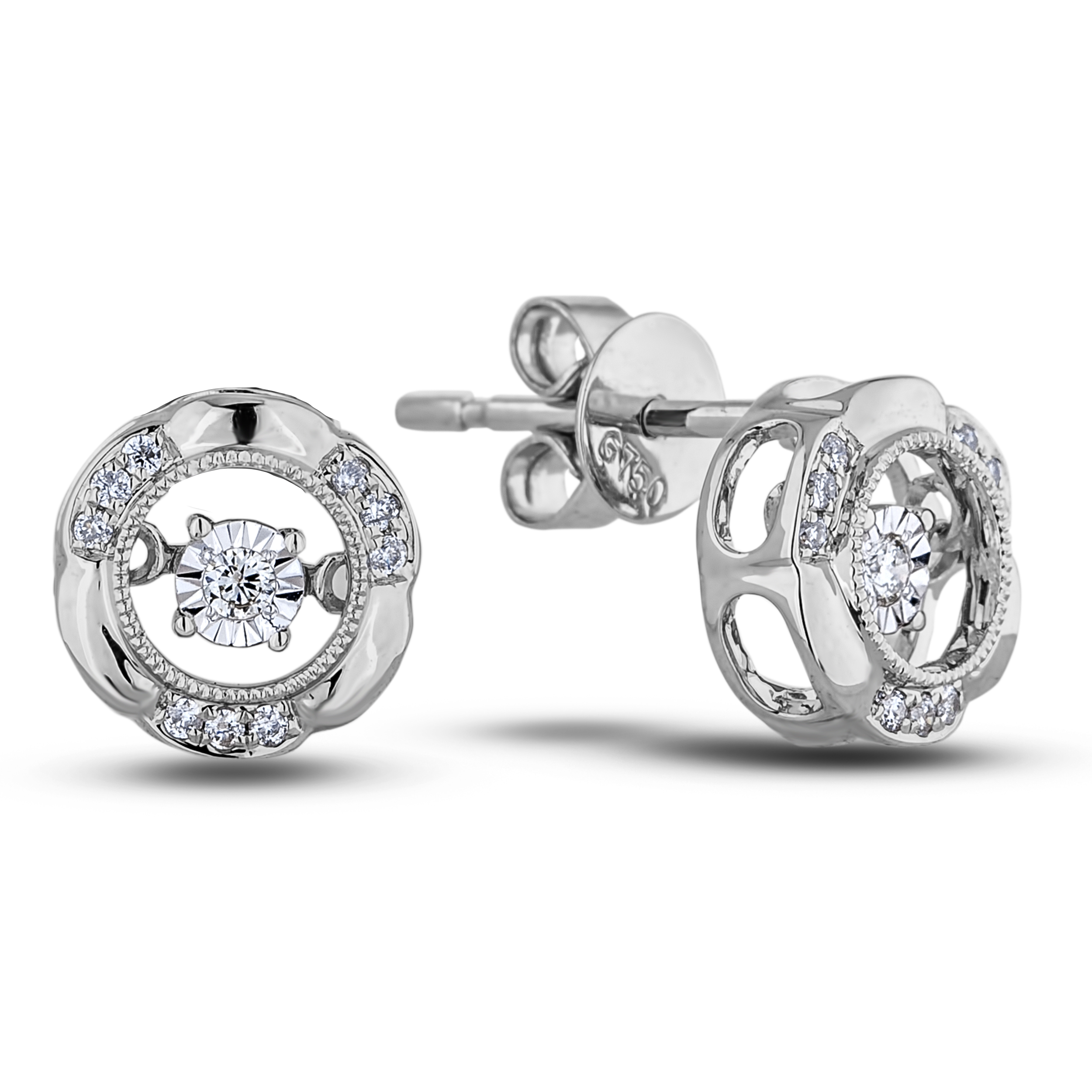 Diamond Stud Earrings AFCE19880015RA (Earrings)