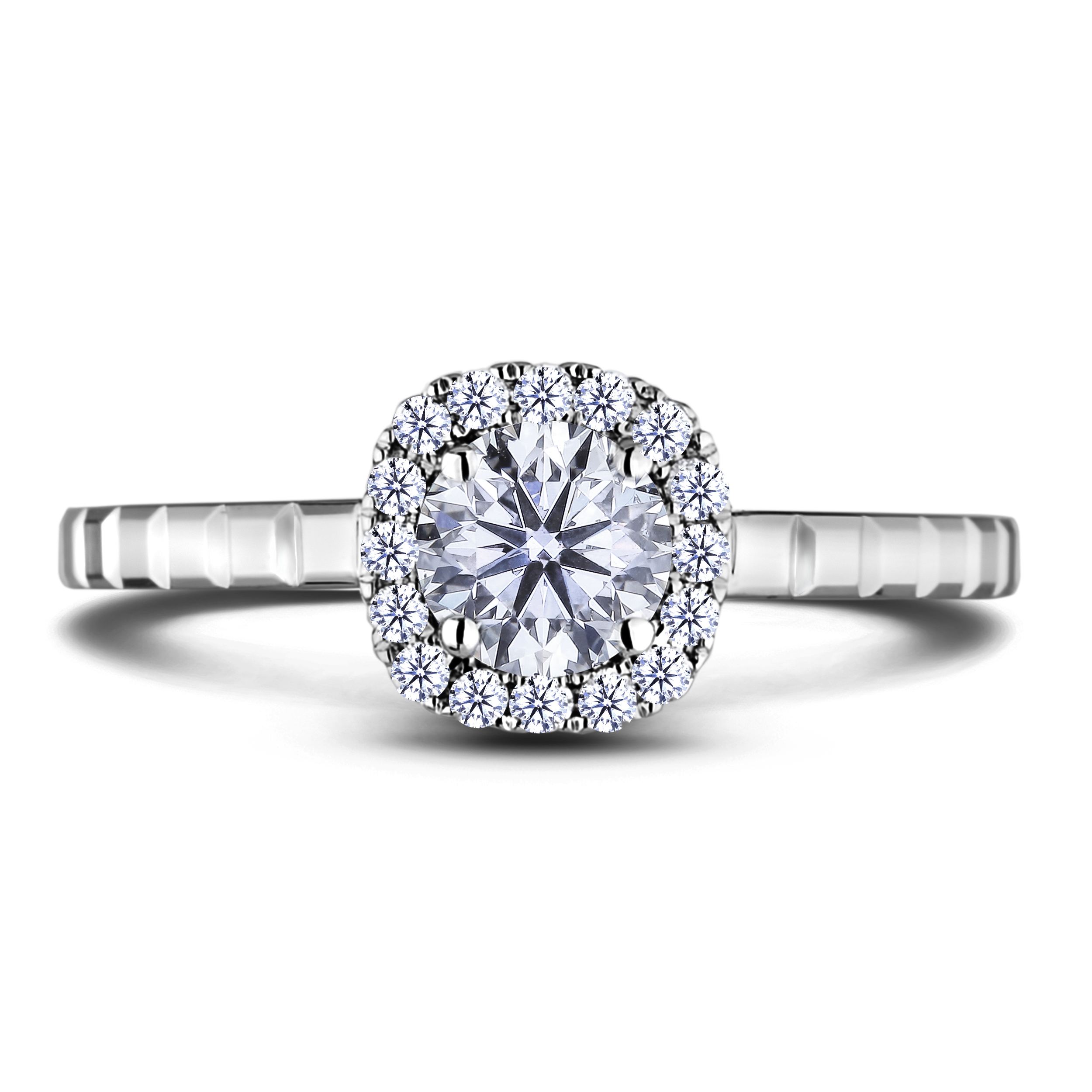 Diamond Engagement Halo Rings AFCR0845050 (Rings)