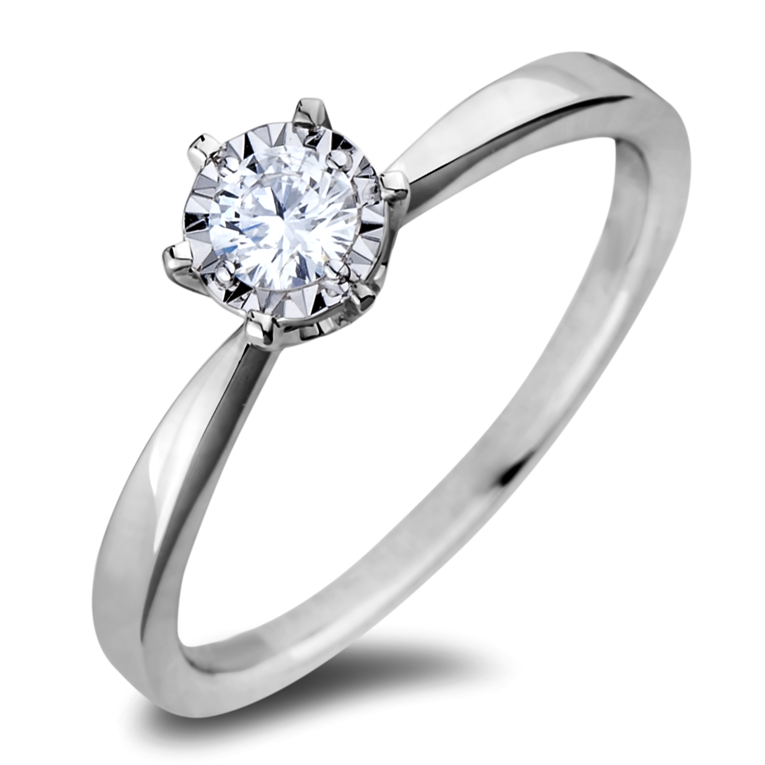Diamond Solitaire Rings JSL-AFCR0103020 (Rings)
