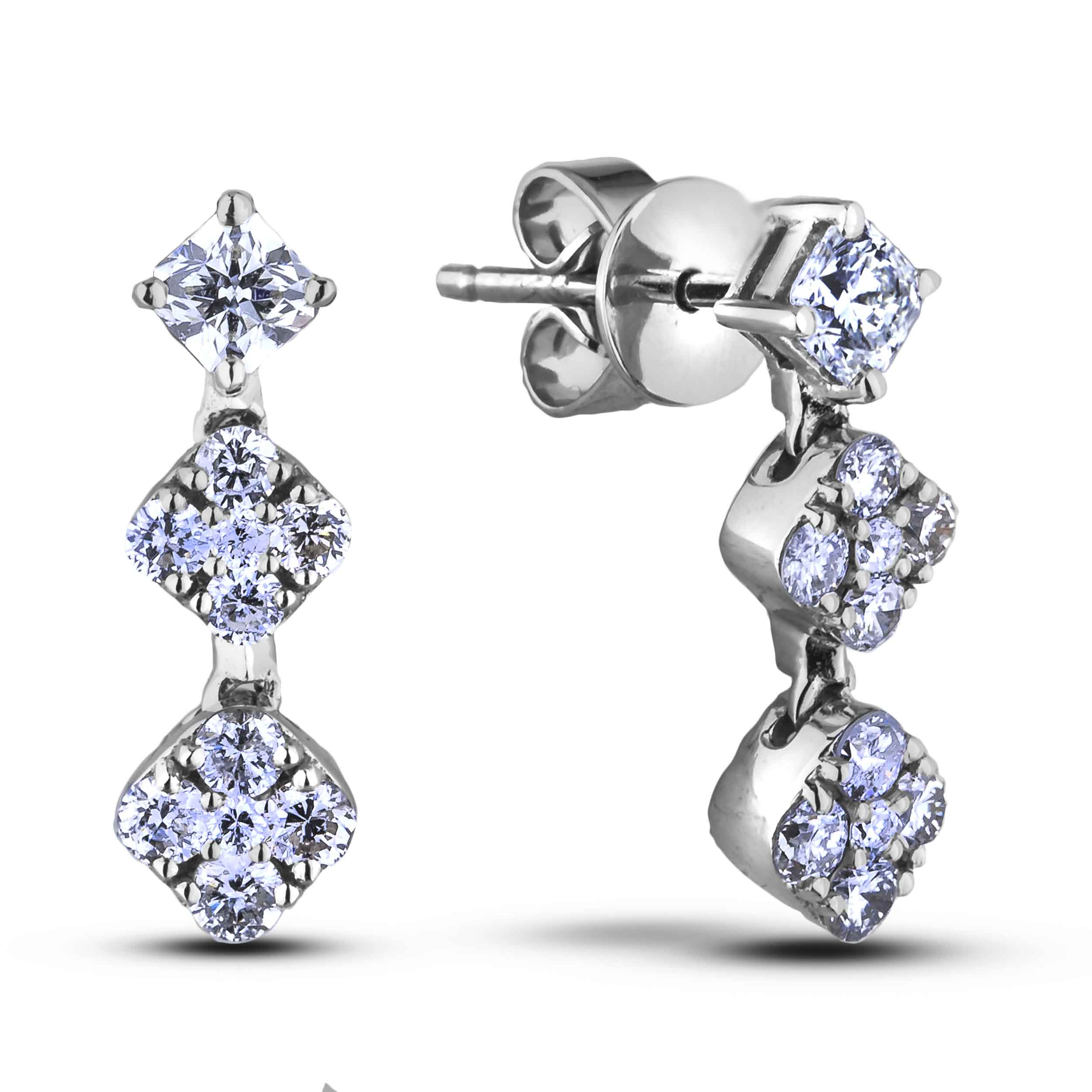 Diamond Dangle Earrings SGE353 (Earrings)